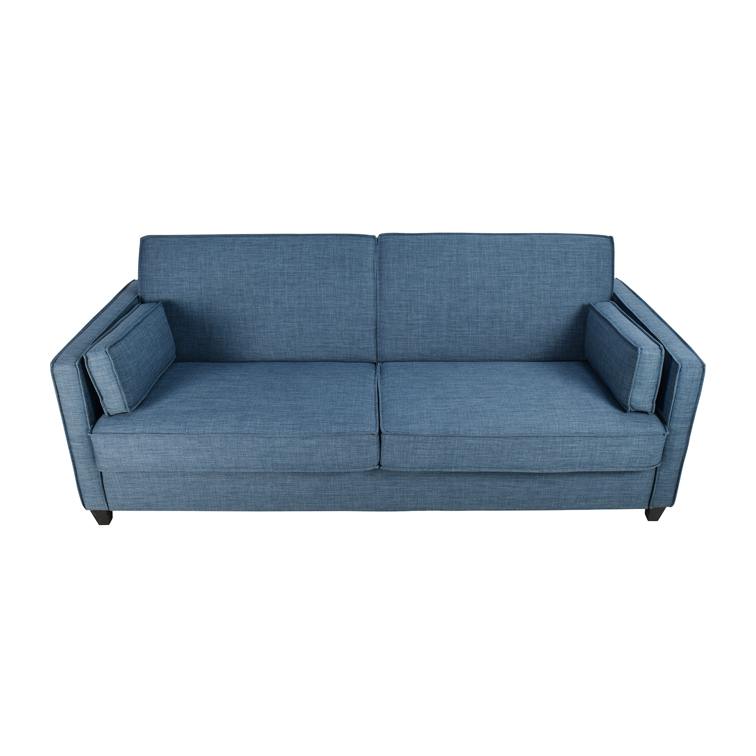 Blue Full Size Convertible Storage Futon Blue