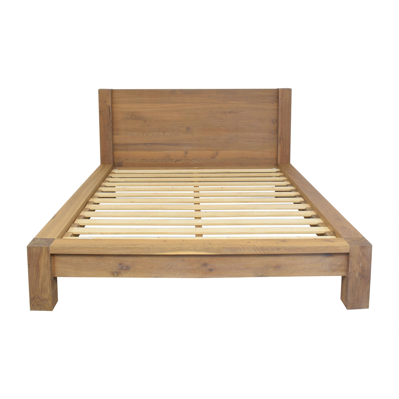 Crate & Barrel Crate & Barrel Big Sur Smoke Queen Bed Frame nyc