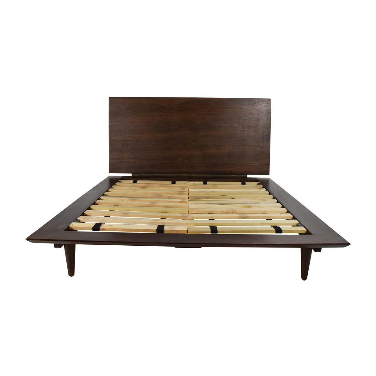 full size brown wood bed discount coupon