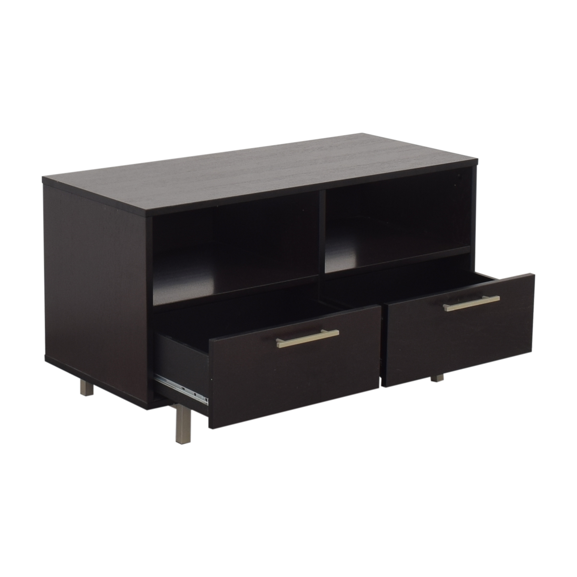 Crate & Barrel Crate & Barrel Two Drawer Media Stand ct