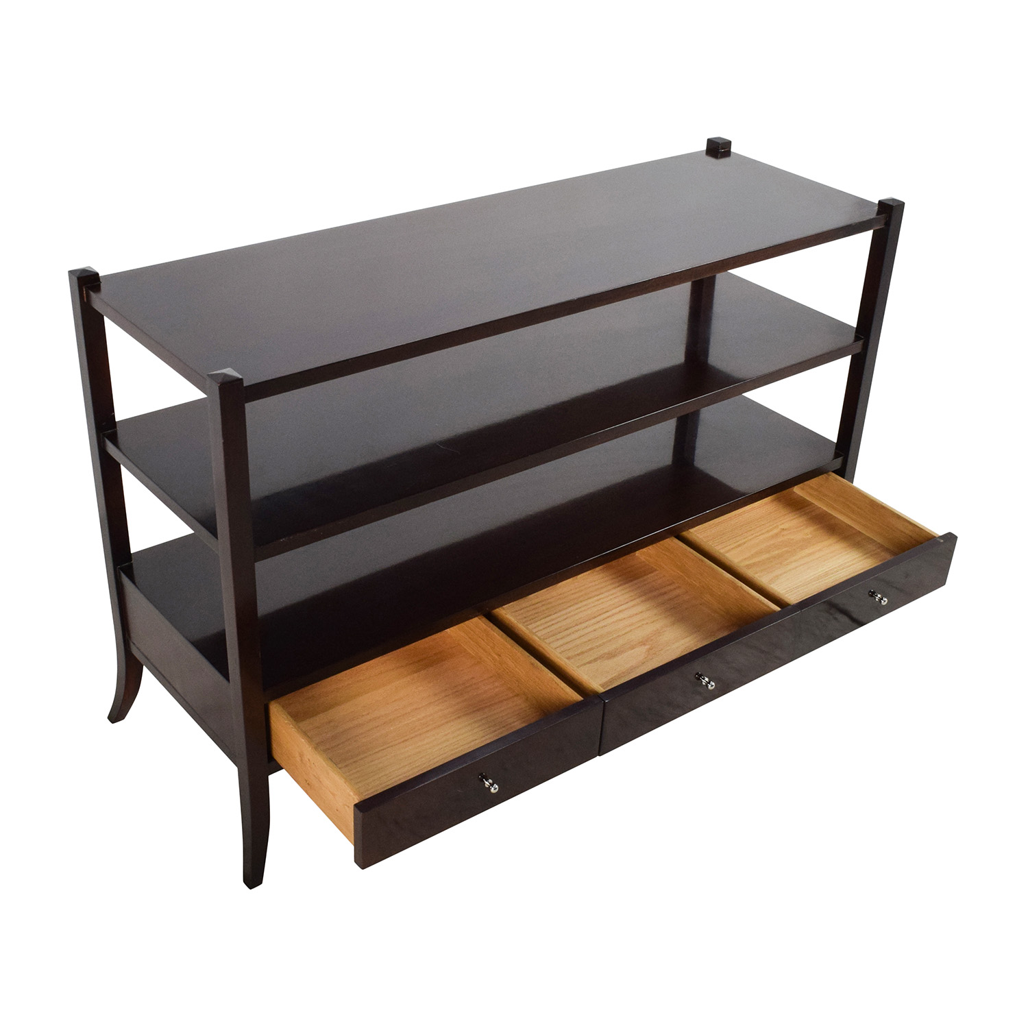 77 off baker baker sofa side table storage - Sofa table with cabinets ...