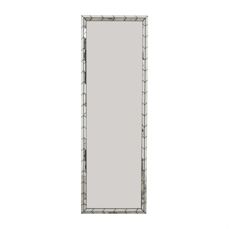 West Elm West Elm Chevron Tile Floor Mirror price