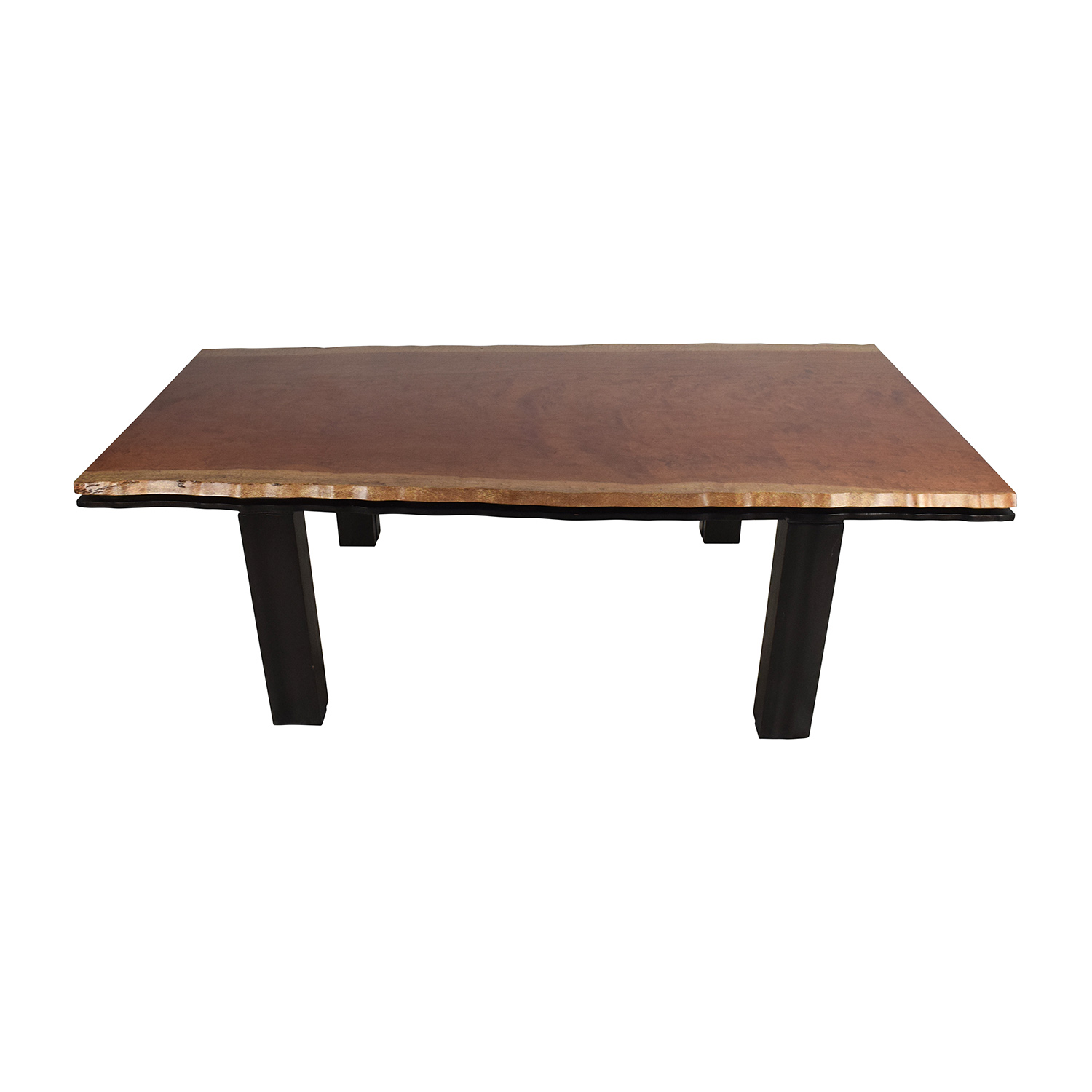 Unknown Curved Edge Wood Dining Table