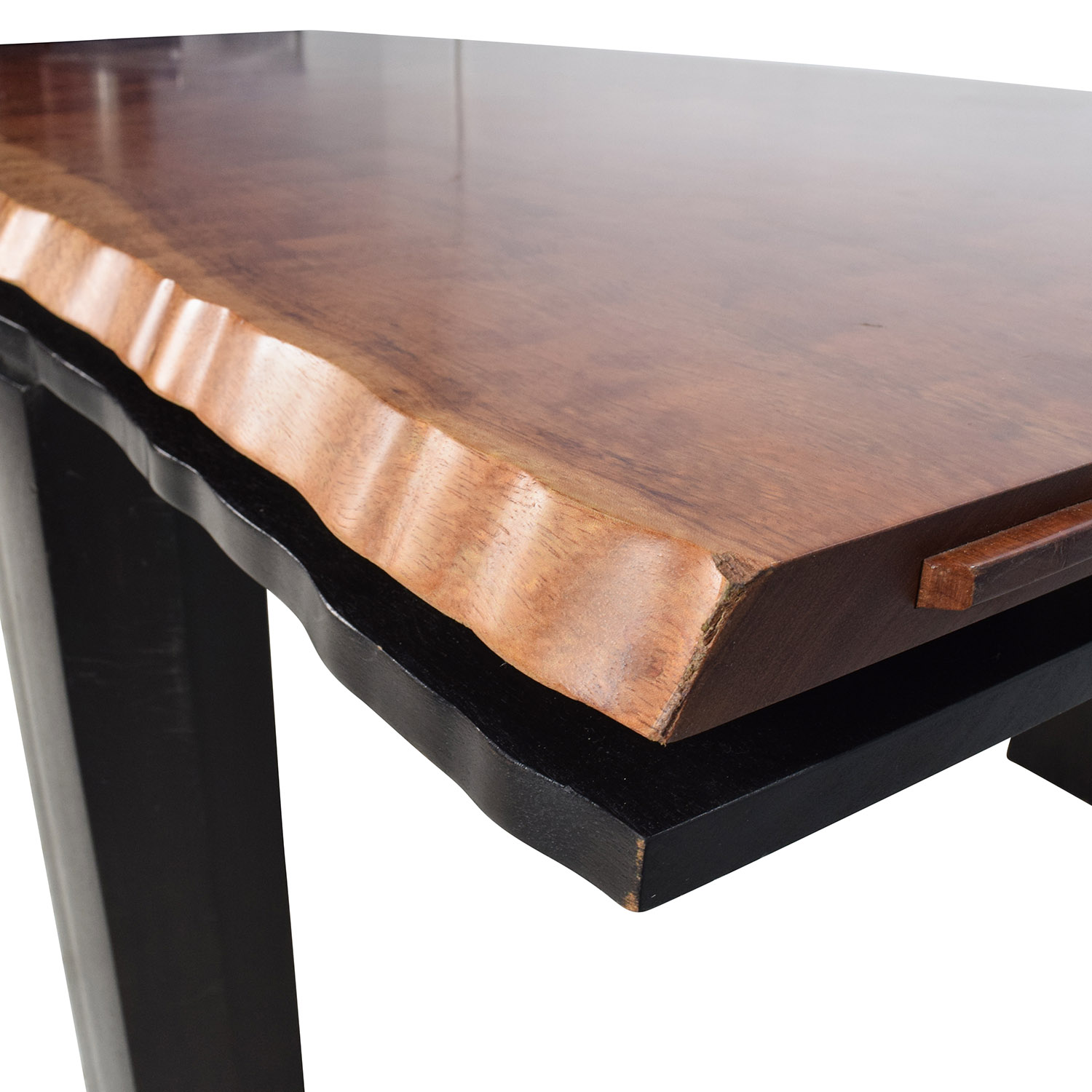 81 Off Curved Edge Wood Dining Table Tables