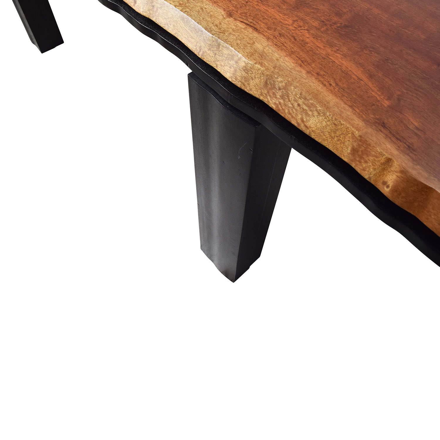 81 Off Unknown Curved Edge Wood Dining Table Tables