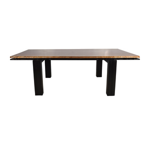 Curved Edge Wood Dining Table  nyc