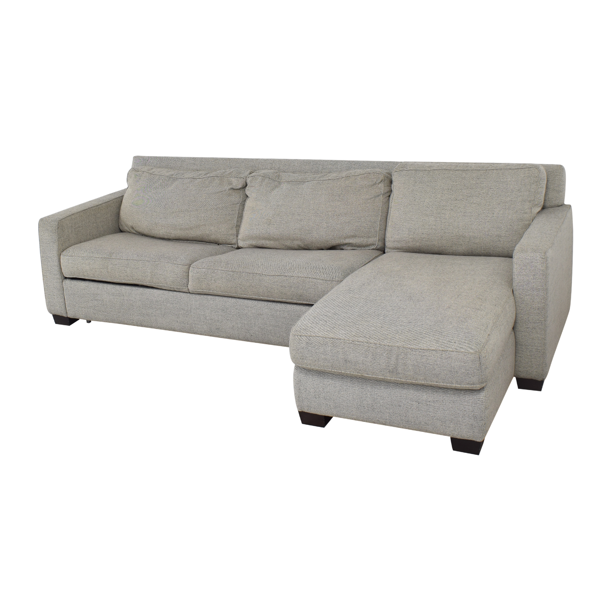 buy West Elm Henry 2-Piece Full Sleeper Sectional with Storage West Elm Sofas