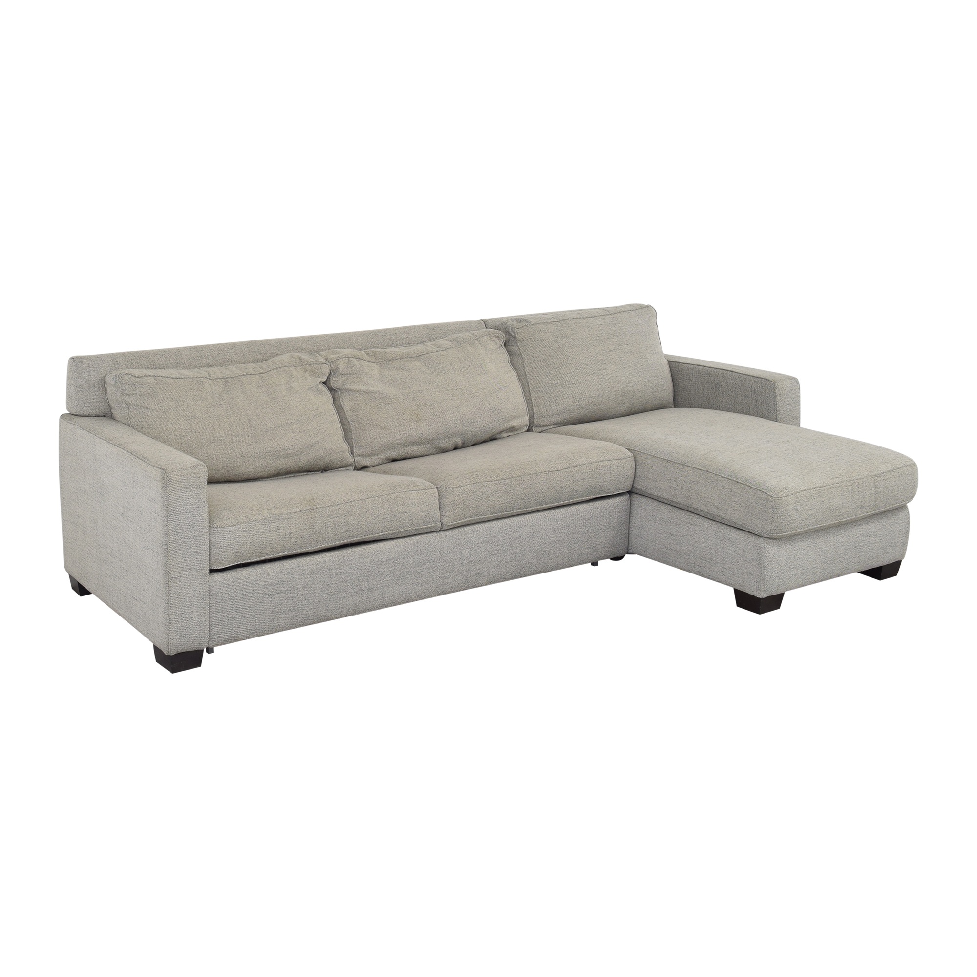 West Elm West Elm Henry 2-Piece Full Sleeper Sectional with Storage ma