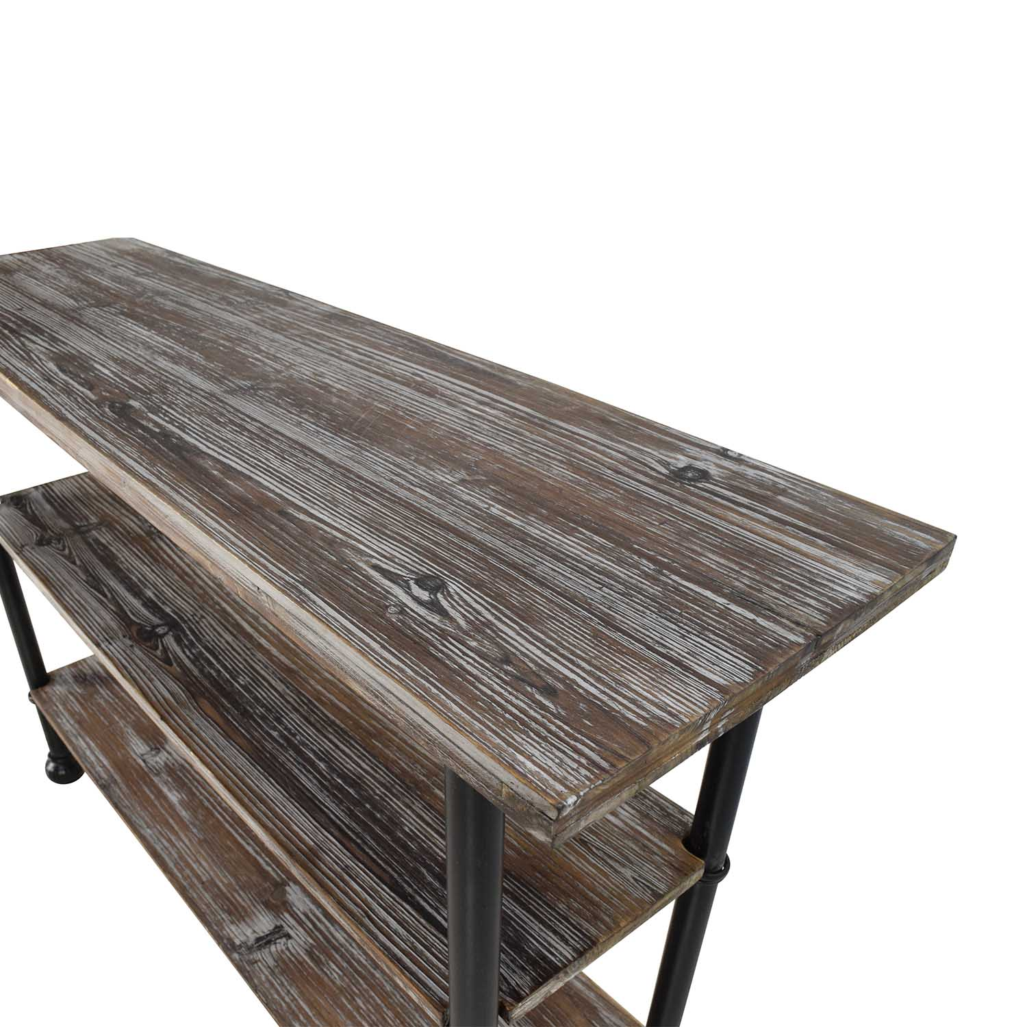 Unknown Rustic Brown Wood 3 Tier Shelf Table coupon