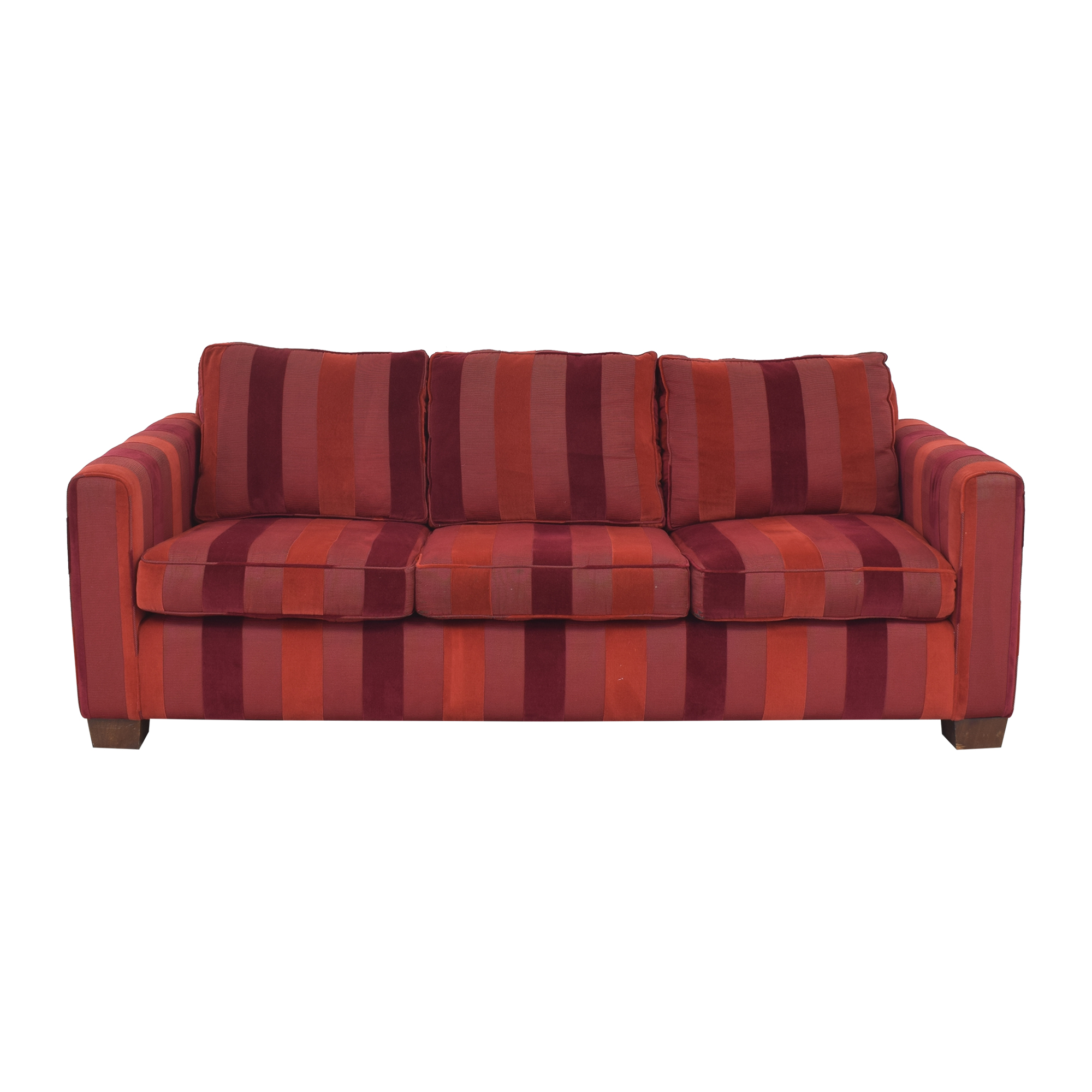 Striped Three Cushion Sofa for sale