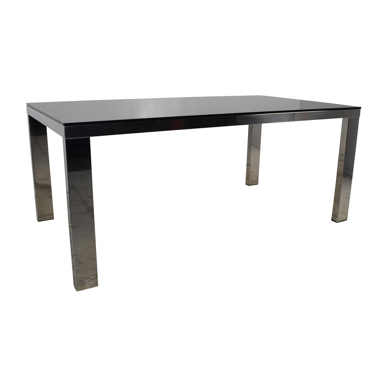82 OFF Modani Modani Tempered Black Glass Top Table  : used modani tempered black glass top table from furnishare.com size 1500 x 1500 jpeg 232kB