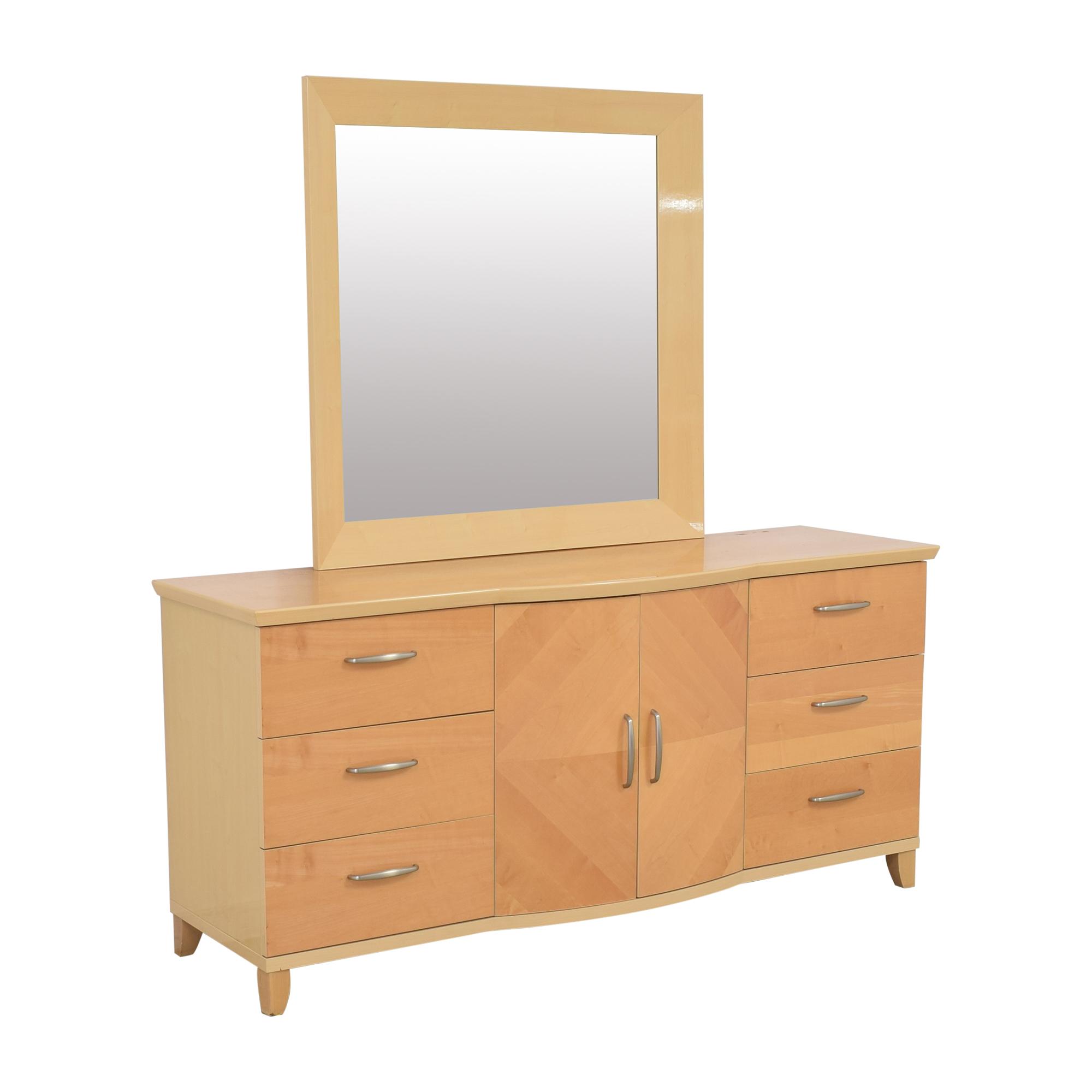 shop Planum Modern Style Dresser and Mirror Planum Storage