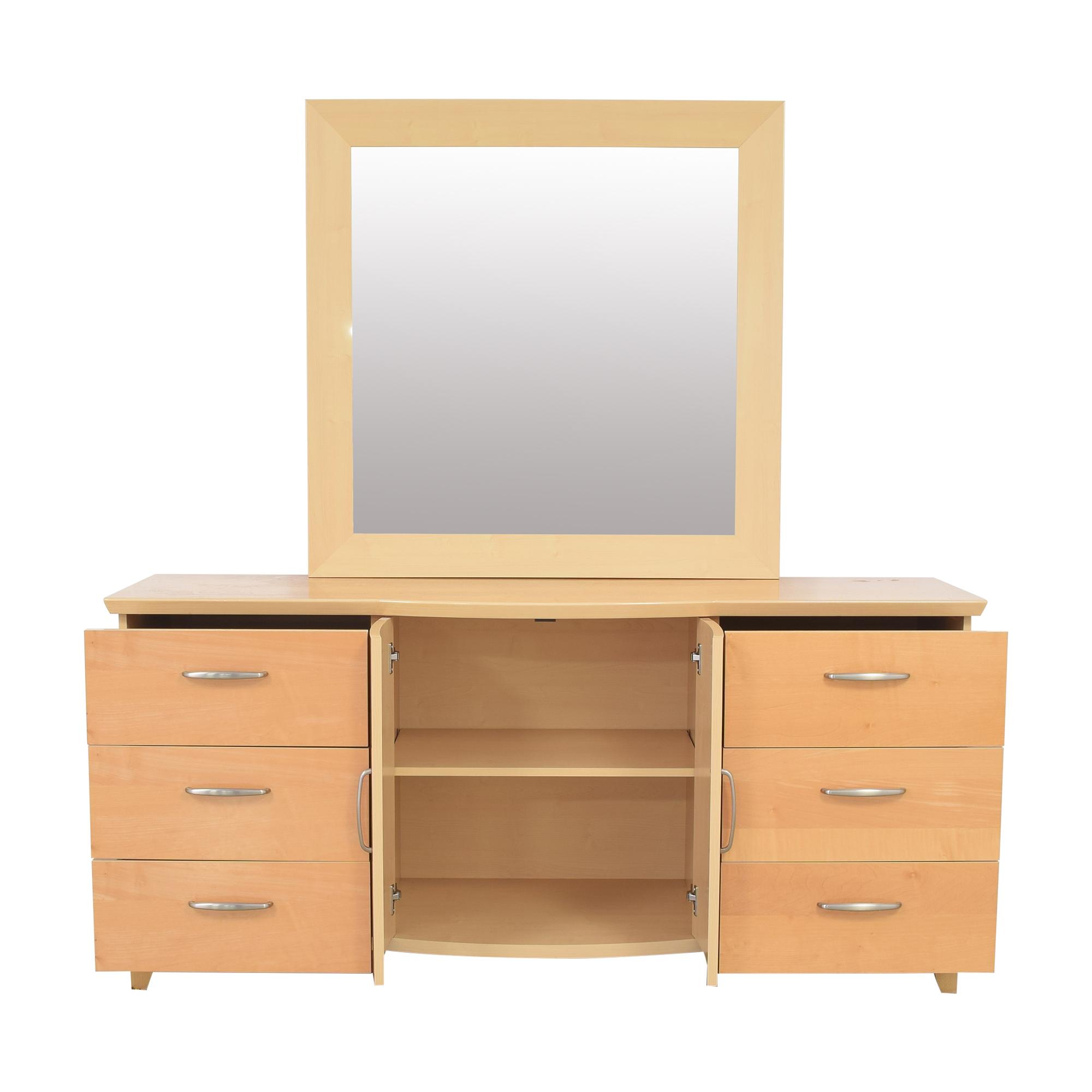 buy Planum Modern Style Dresser and Mirror Planum