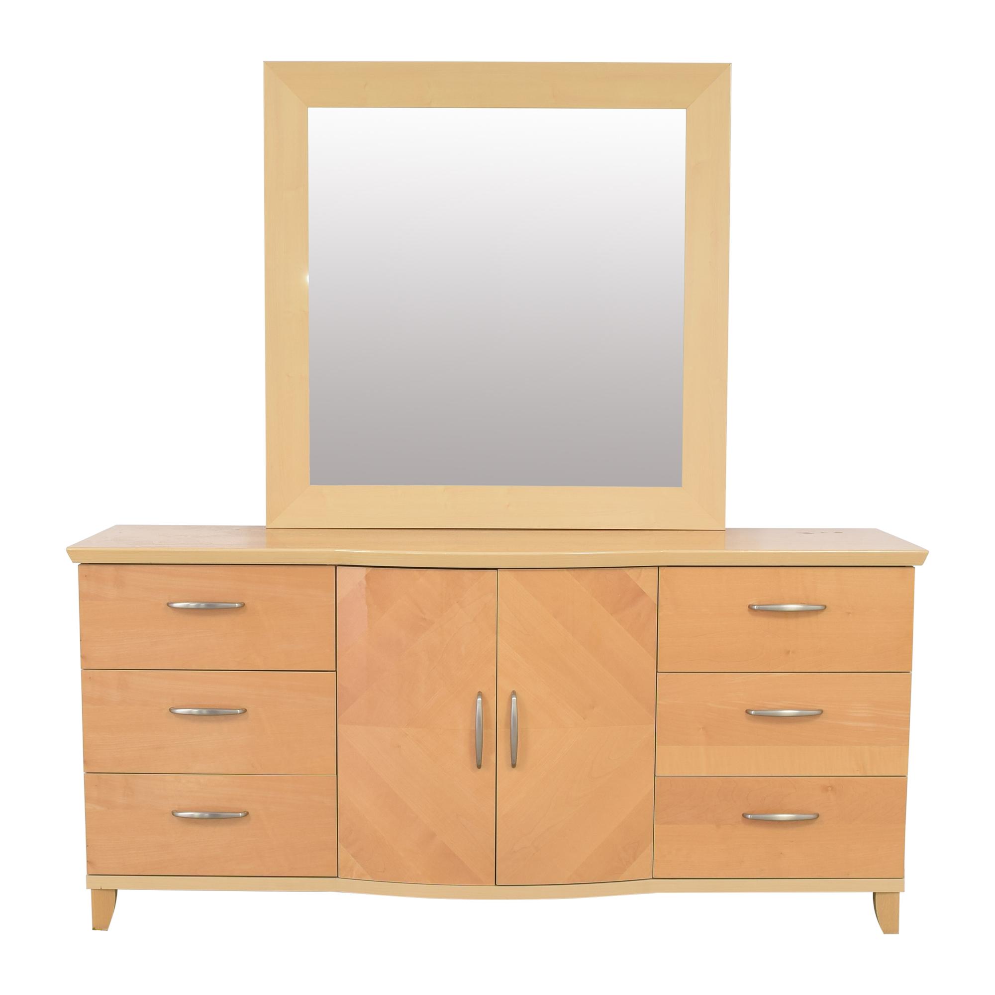 Planum Planum Modern Style Dresser and Mirror pa