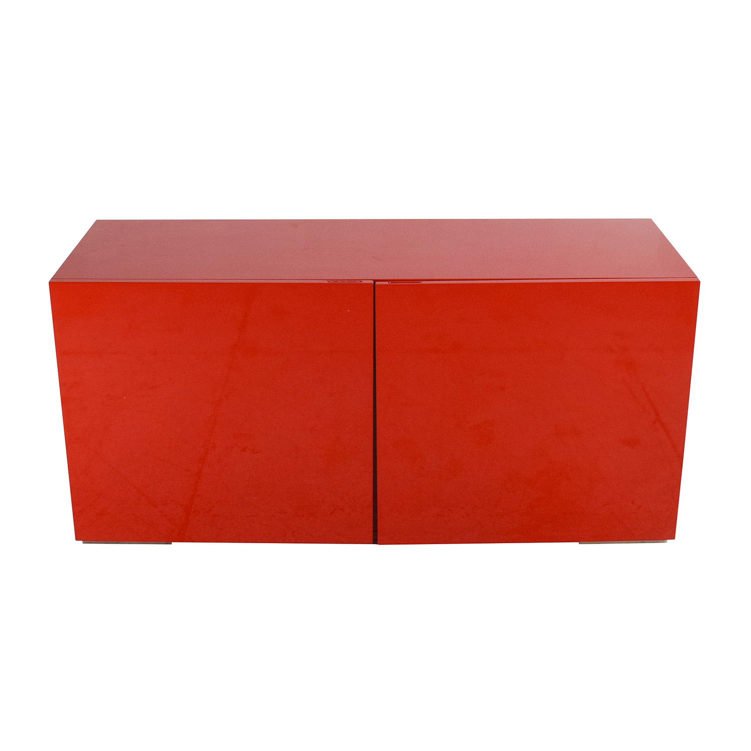 buy CB2 Fuel Credenza in Red CB2
