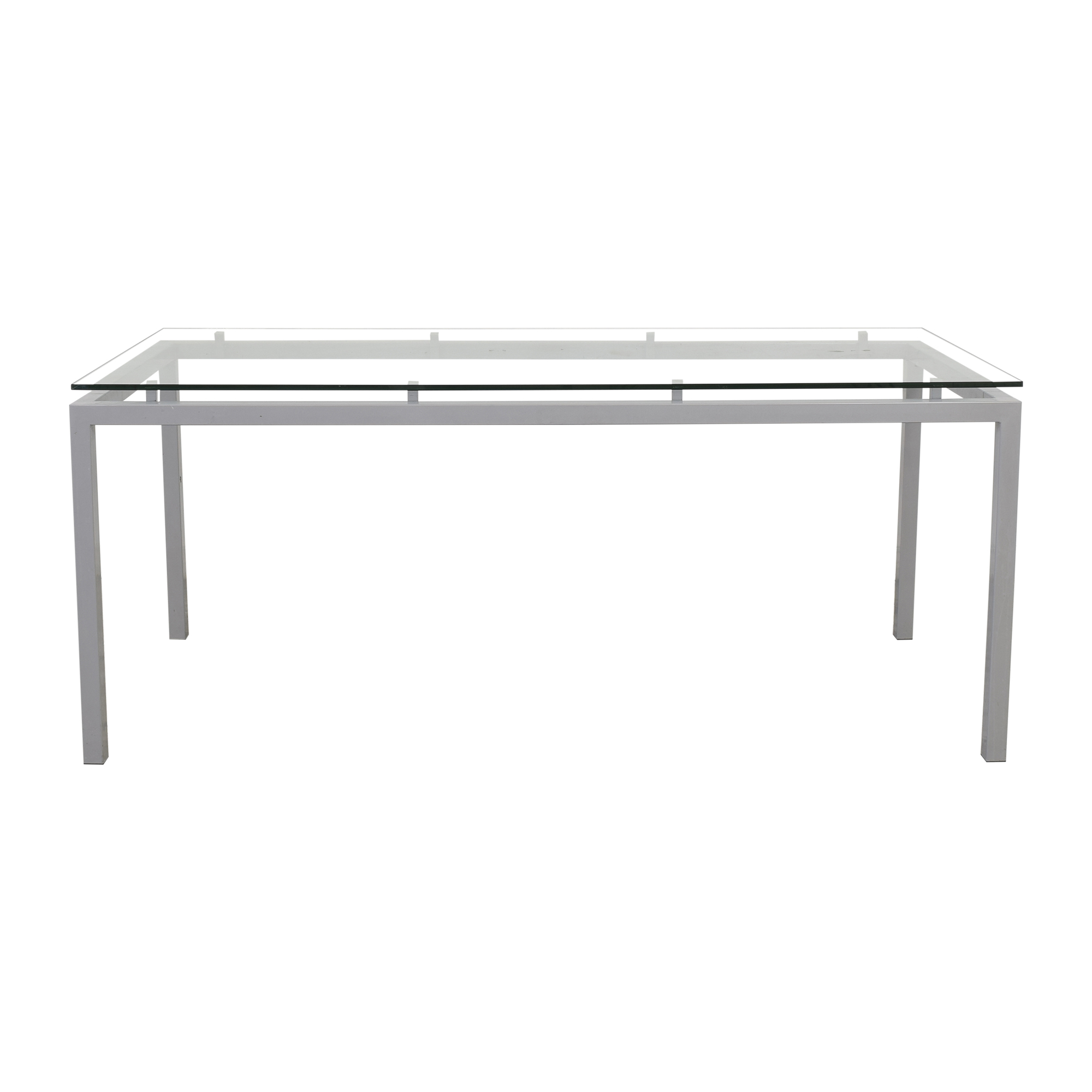Crate & Barrel Crate & Barrel Modern Parsons Style Dining Table nyc