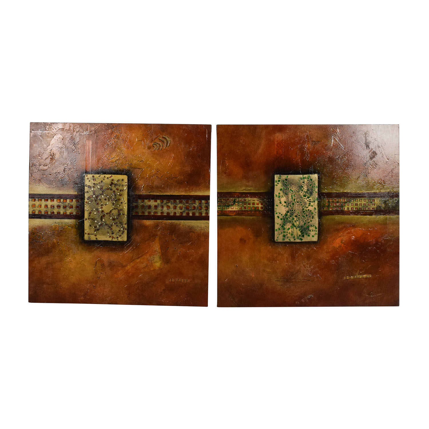 Interior Design Painting Pair Wall Art