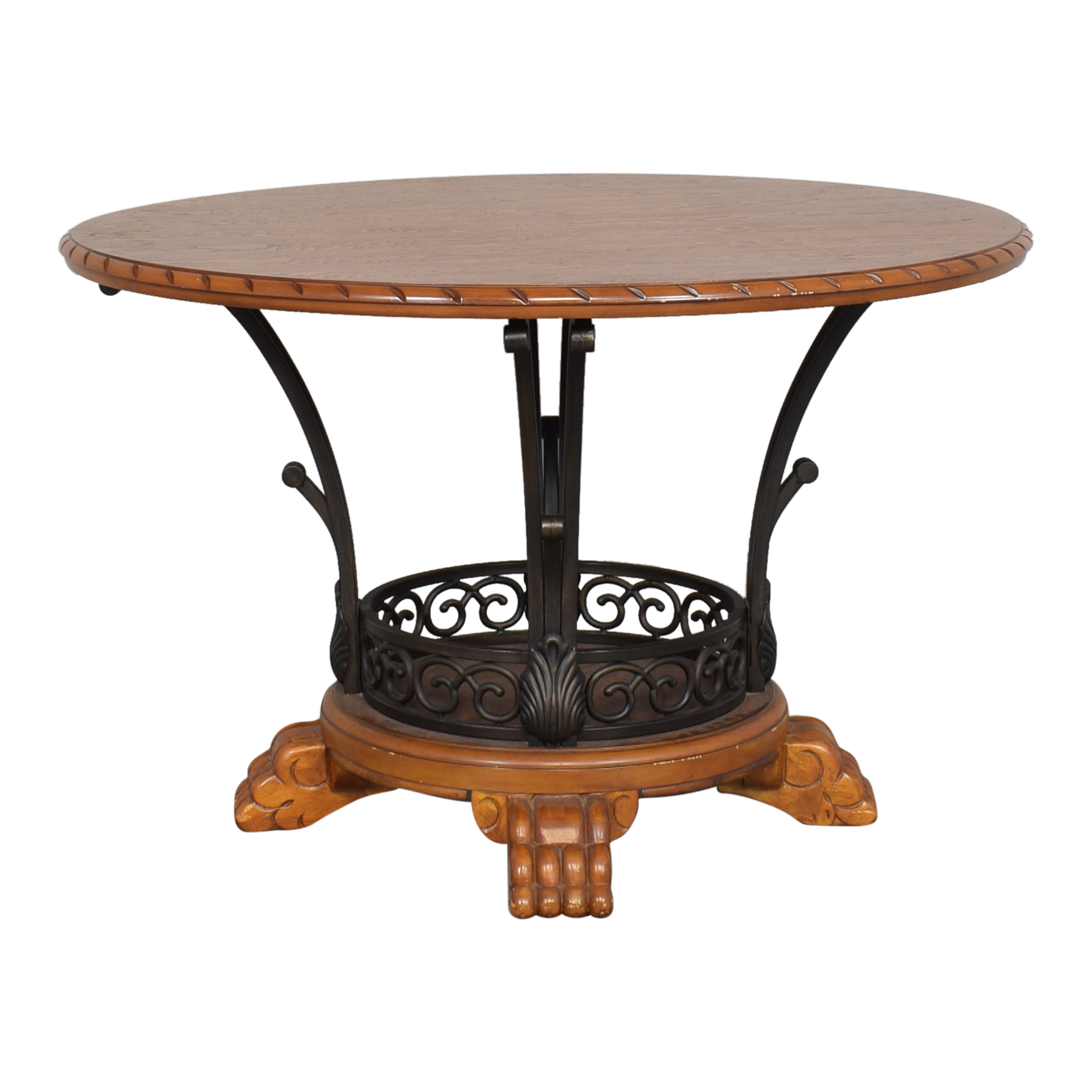 Round Openwork Pedestal Dining Table / Dinner Tables