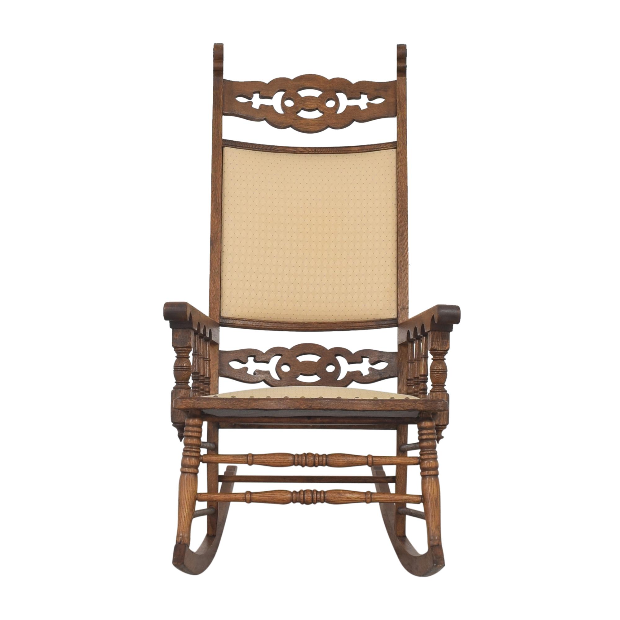 Rustic Rocking Chair brown & beige