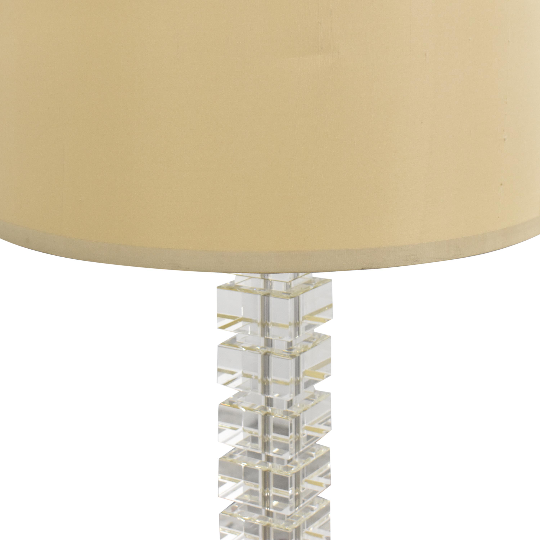 Picture of: 46 Off Restoration Hardware Restoration Hardware Stacked Crystal Block Floor Lamp Decor