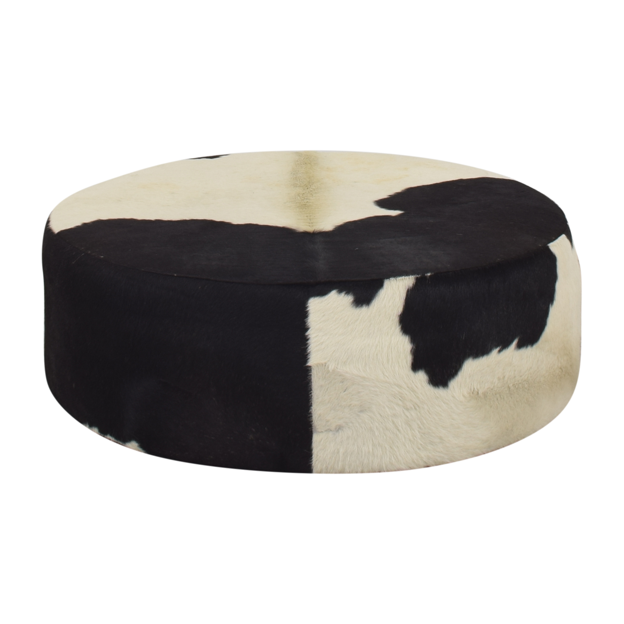 One Kings Lane One Kings Lane Cowhide Ottoman on sale