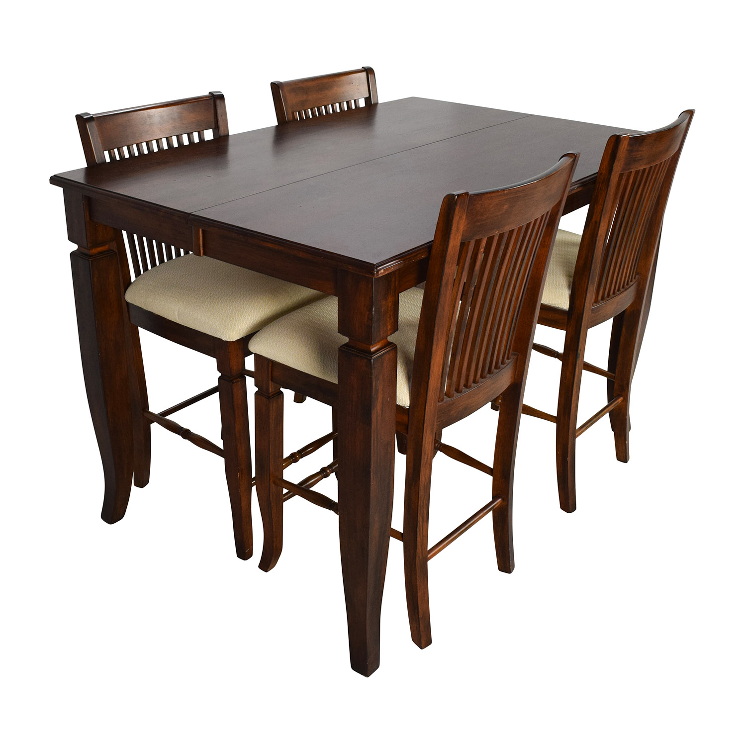 shop Tall Extendable Dining Room Table Set Tables ...  sc 1 st  Furnishare & 75% OFF - Tall Extendable Dining Room Table Set / Tables