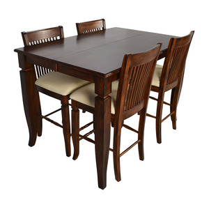 Tall Extendable Dining Room Table Set discount