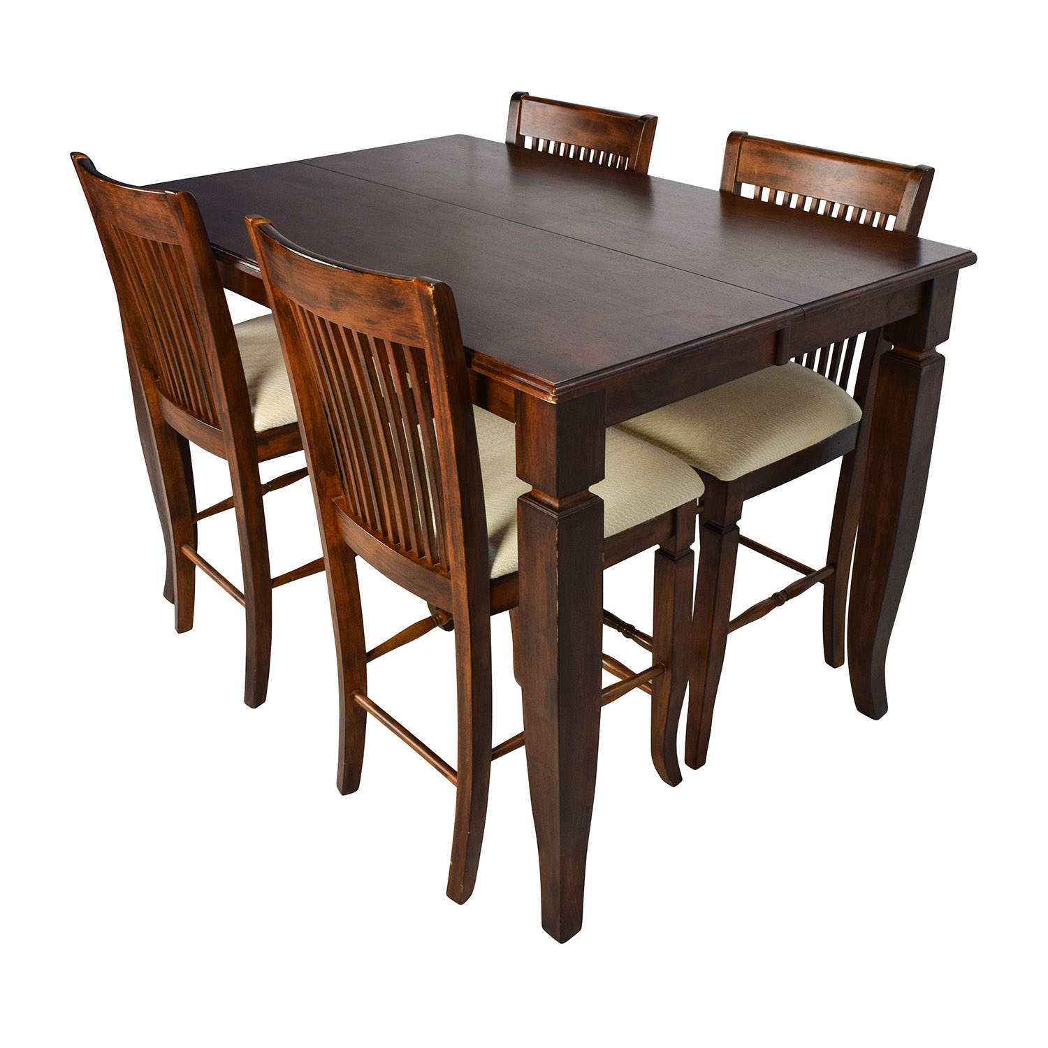 dining table with bench backrest images