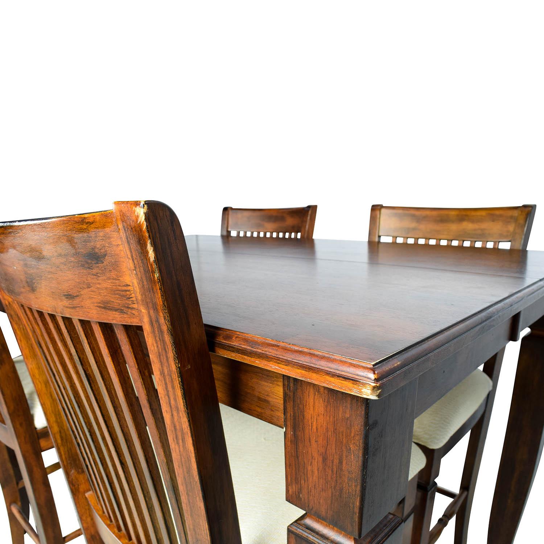 Tall Extendable Dining Room Table Set nj