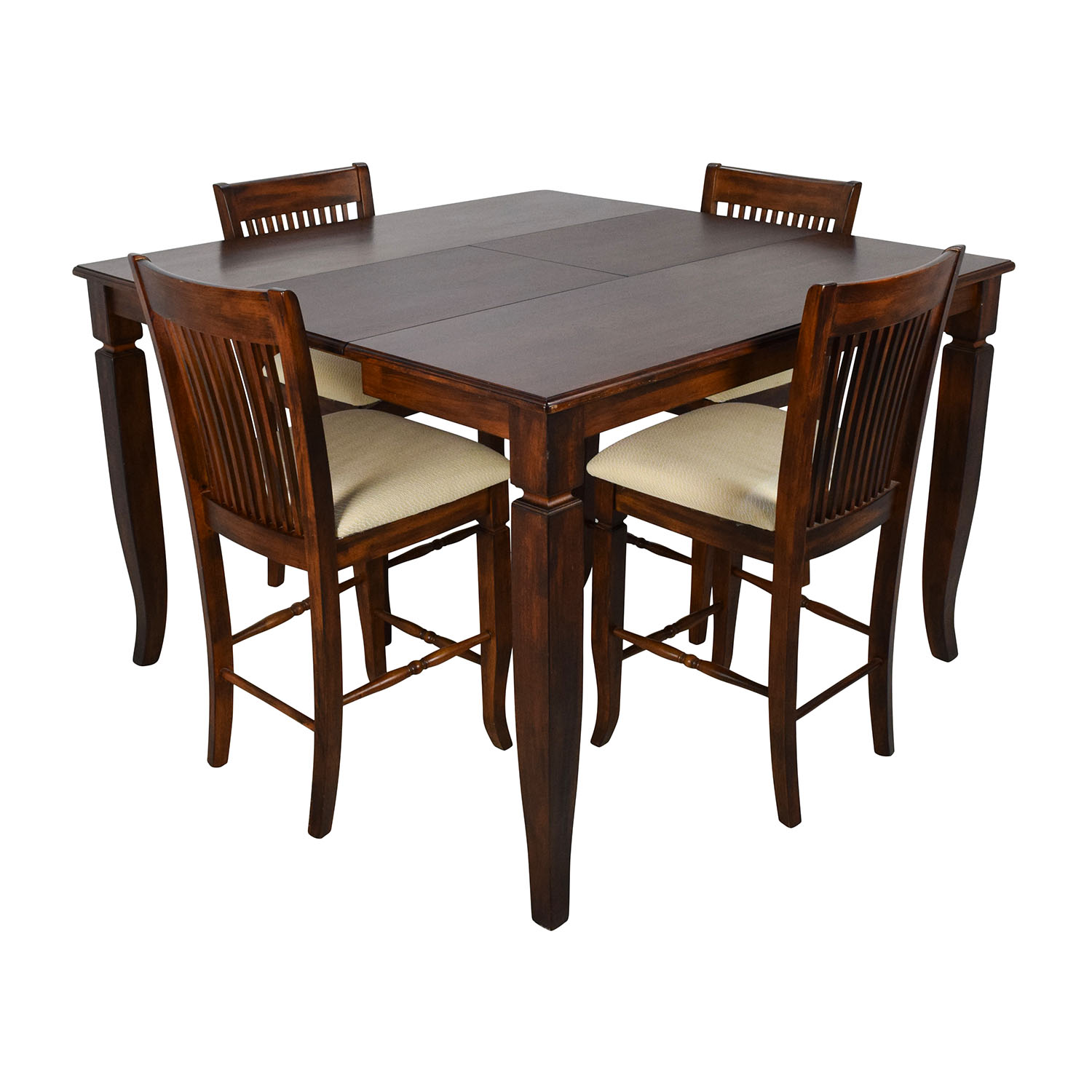 75 off tall extendable dining room table set tables for Tall dinner table set