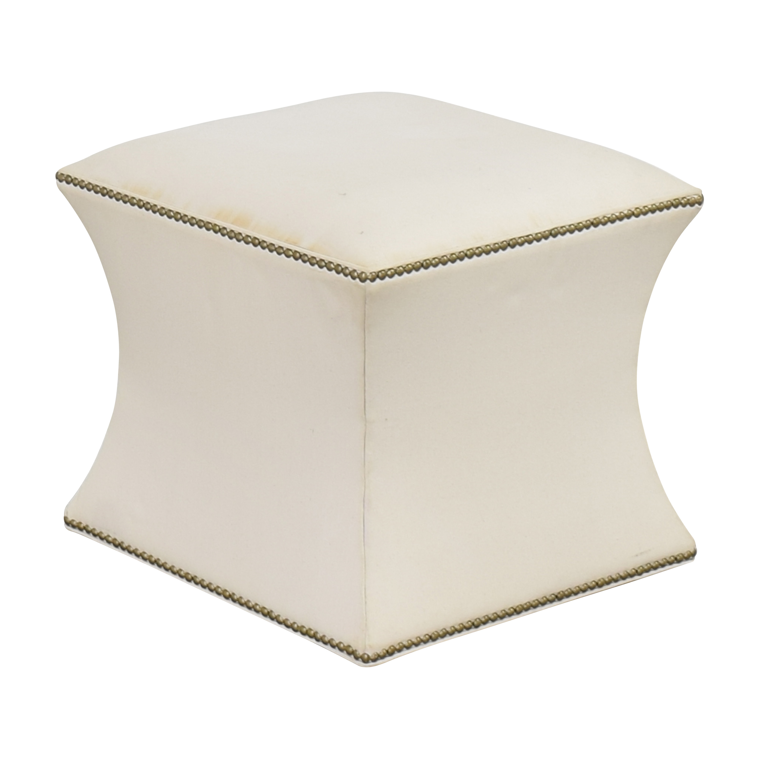 One Kings Lane One Kings Lane Nailhead Trim Ottoman ct