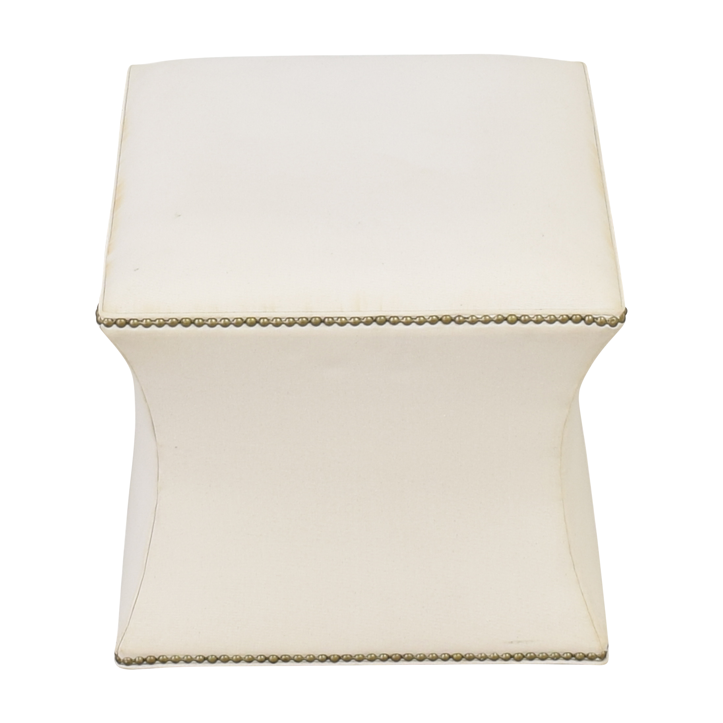 One Kings Lane One Kings Lane Nailhead Trim Ottoman for sale