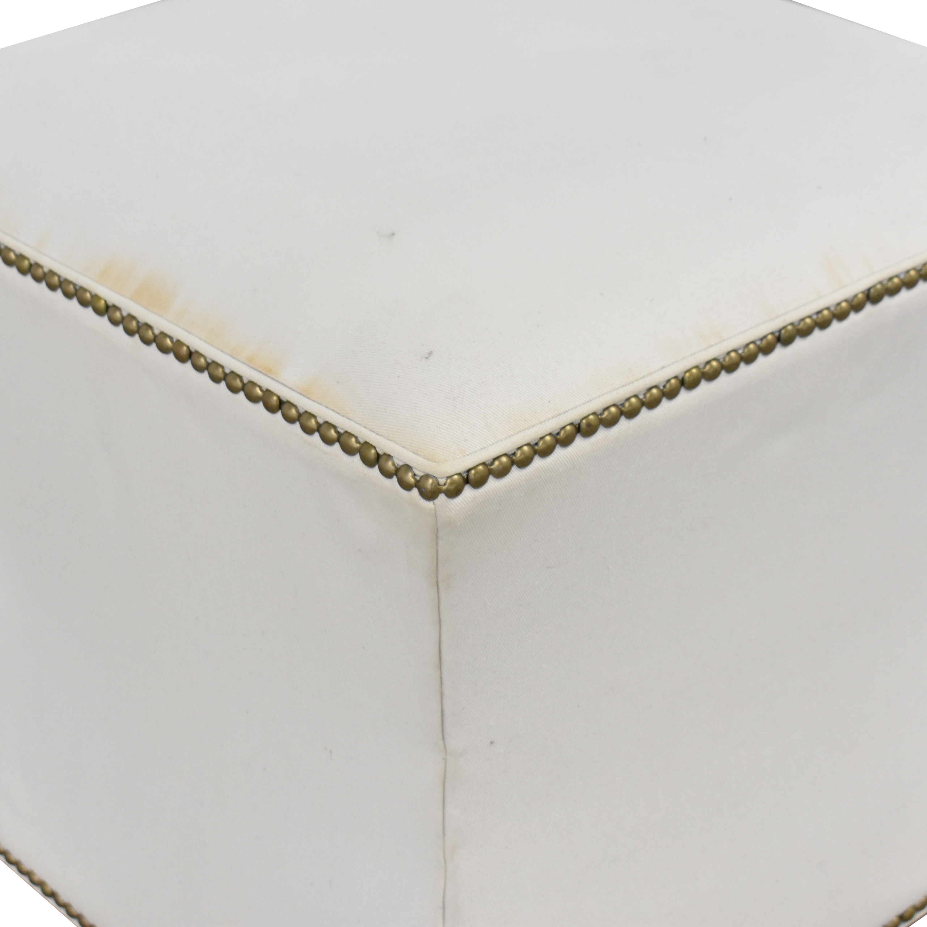 One Kings Lane Nailhead Trim Ottoman sale