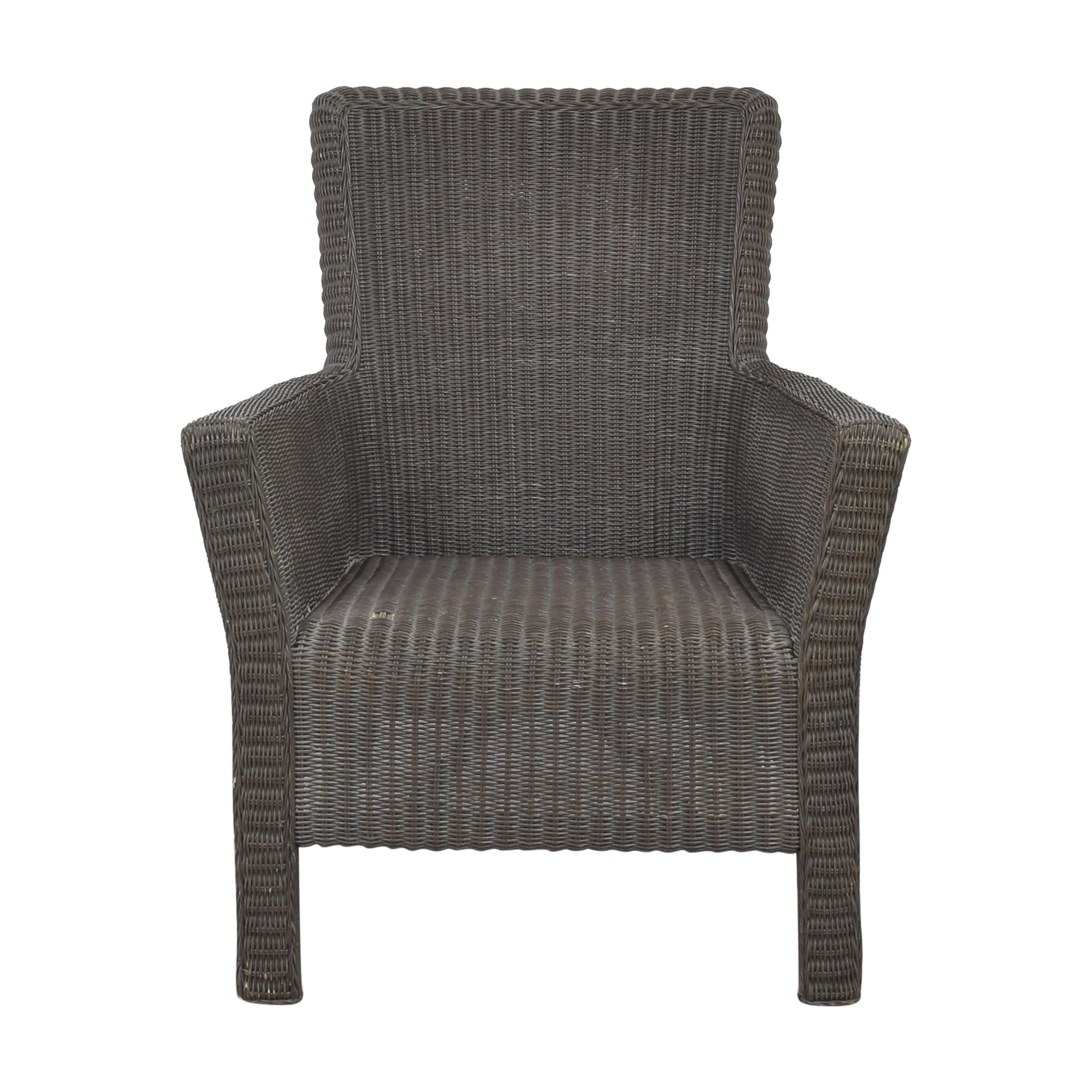 Crate & Barrel Crate & Barrel Wicker Arm Chair coupon