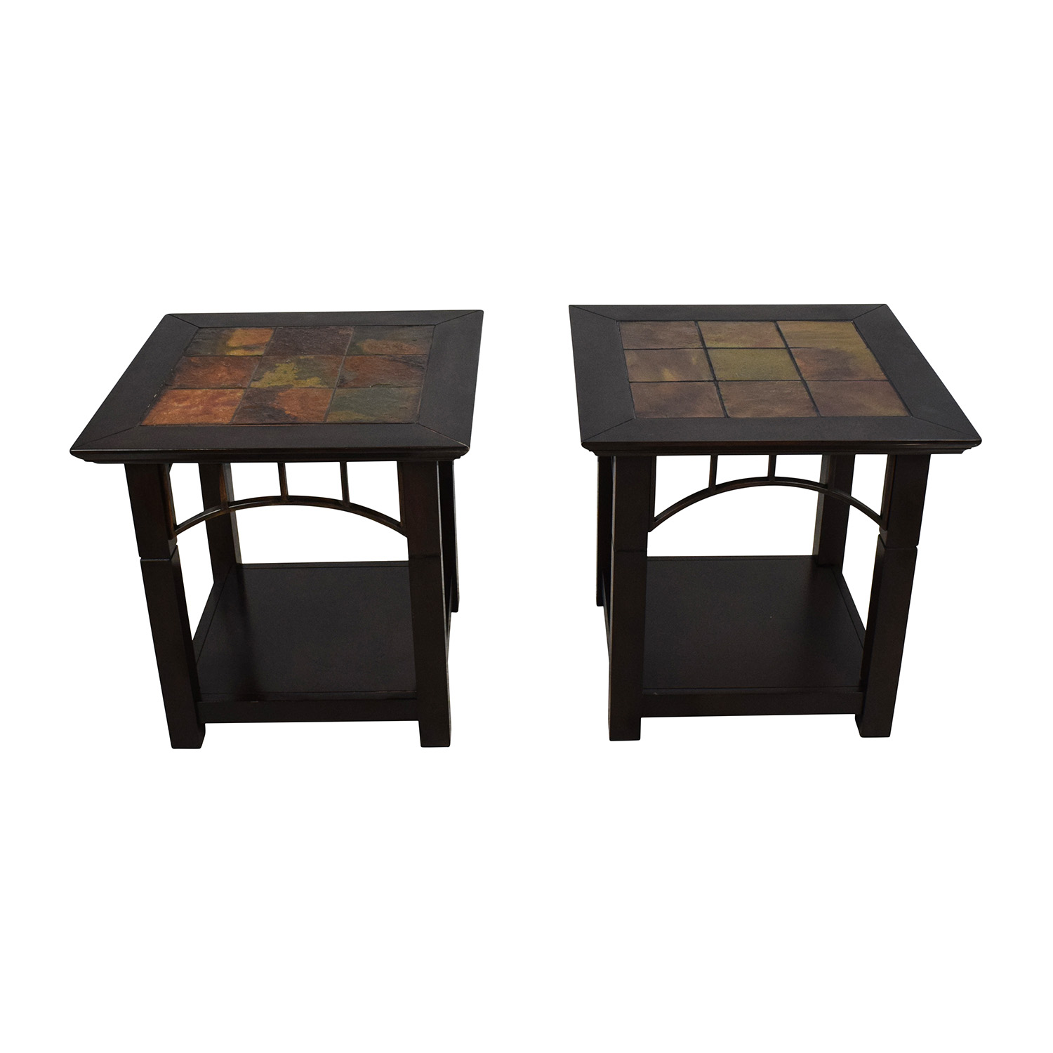 End Table Pair with Tiled Tops Tables