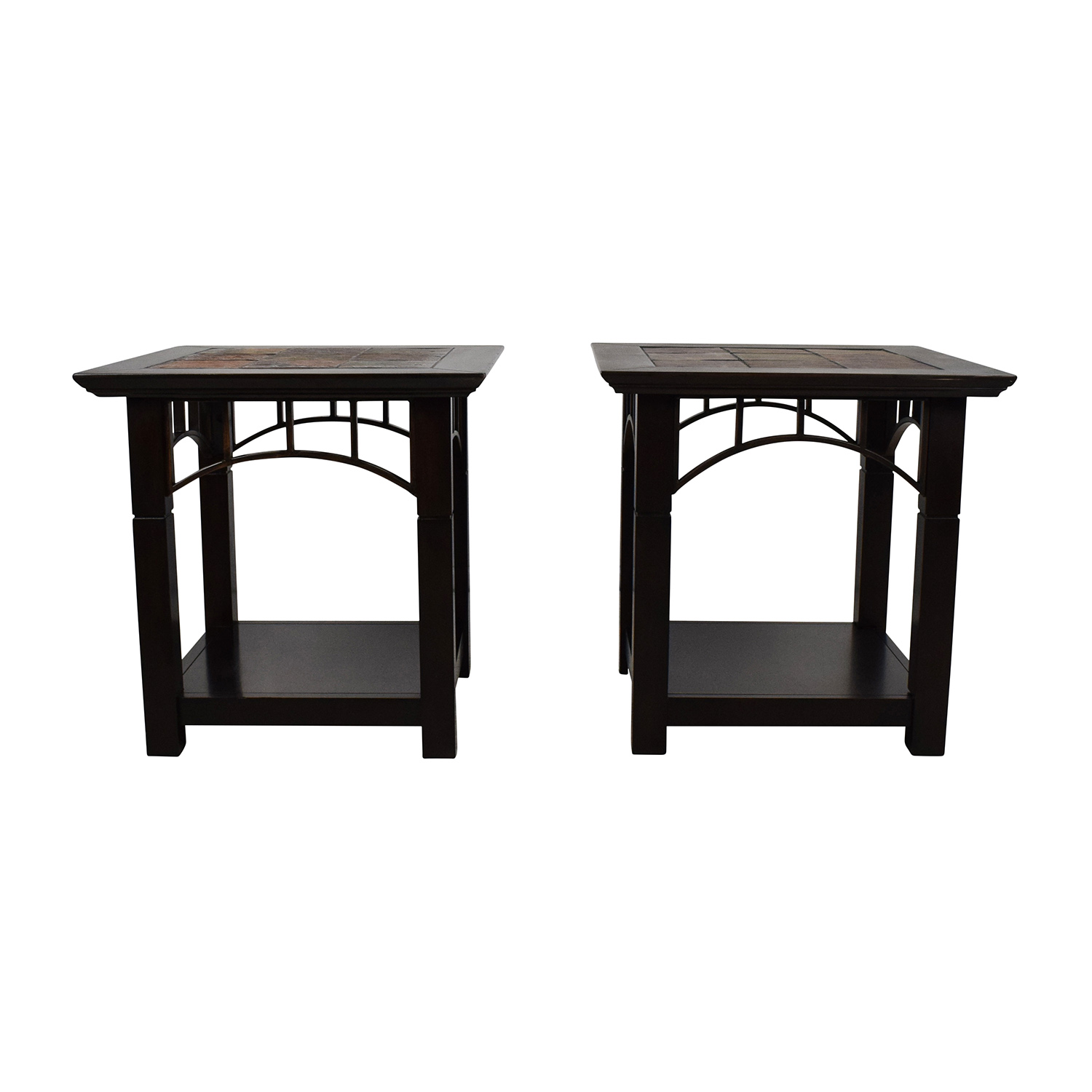 buy End Table Pair with Tiled Tops Tables