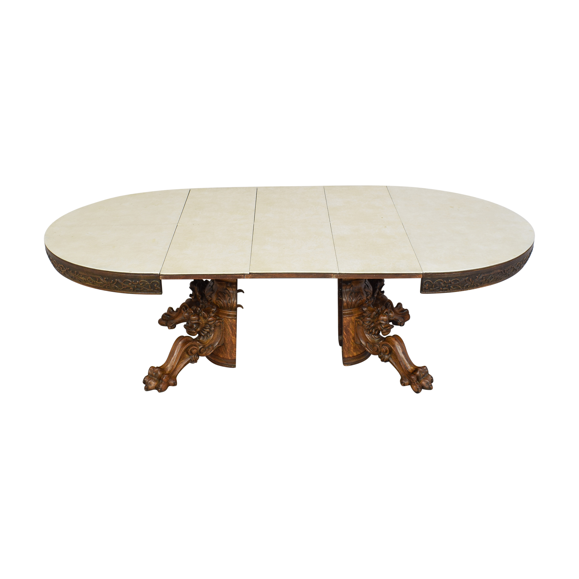 Carved Round Extendable Dining Table discount