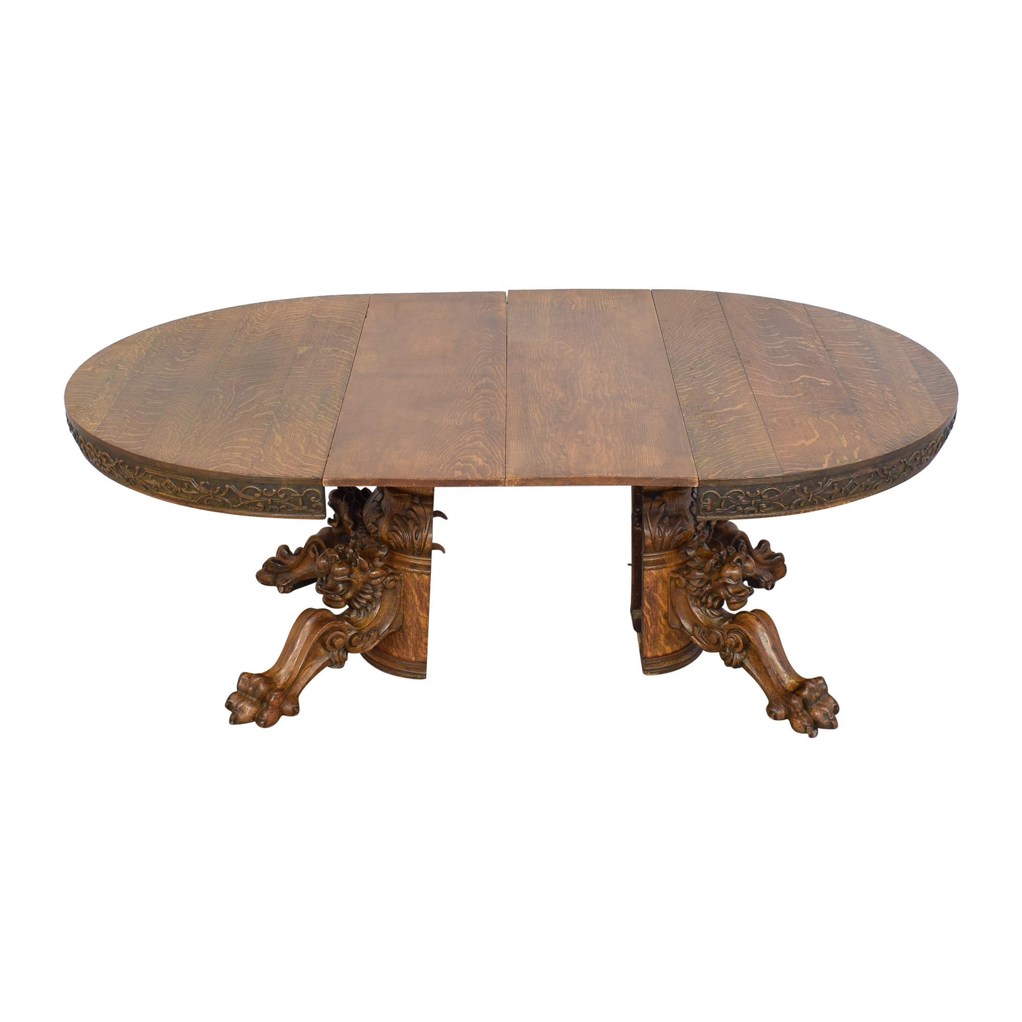 Carved Round Extendable Dining Table coupon