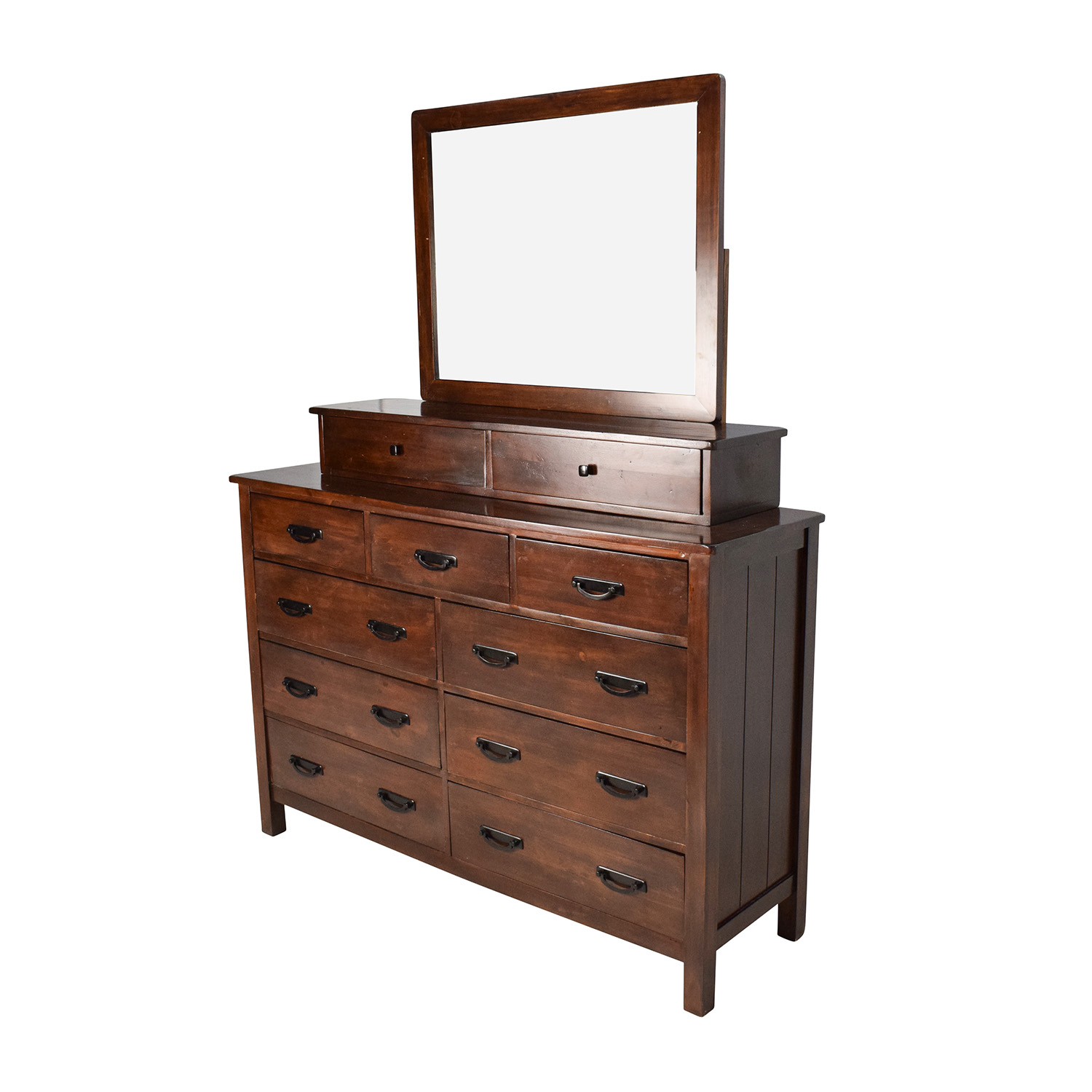 56 Off Wooden 11 Drawer Dresser With Vanity Mirror