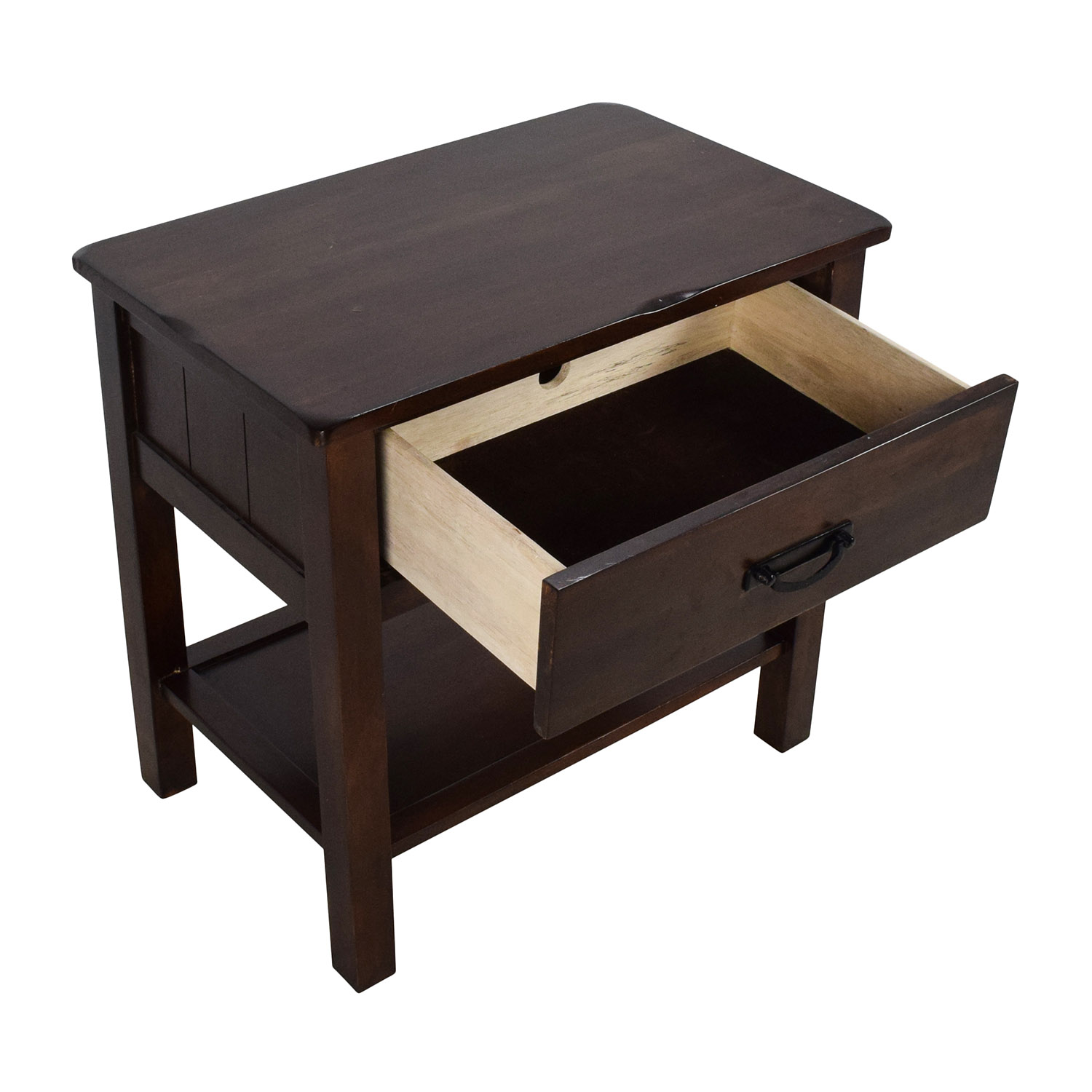 OFF Rustic Brown Mission Style Nightstand Tables