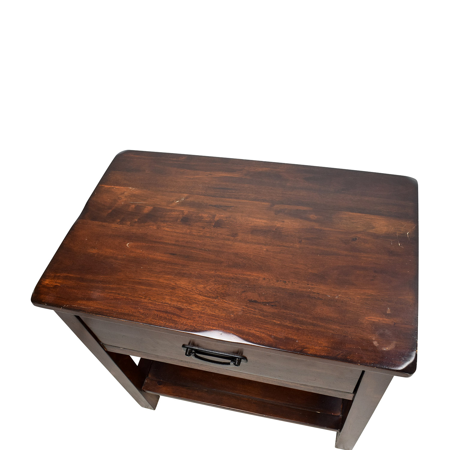 75% OFF Rustic Brown Mission Style Nightstand Tables