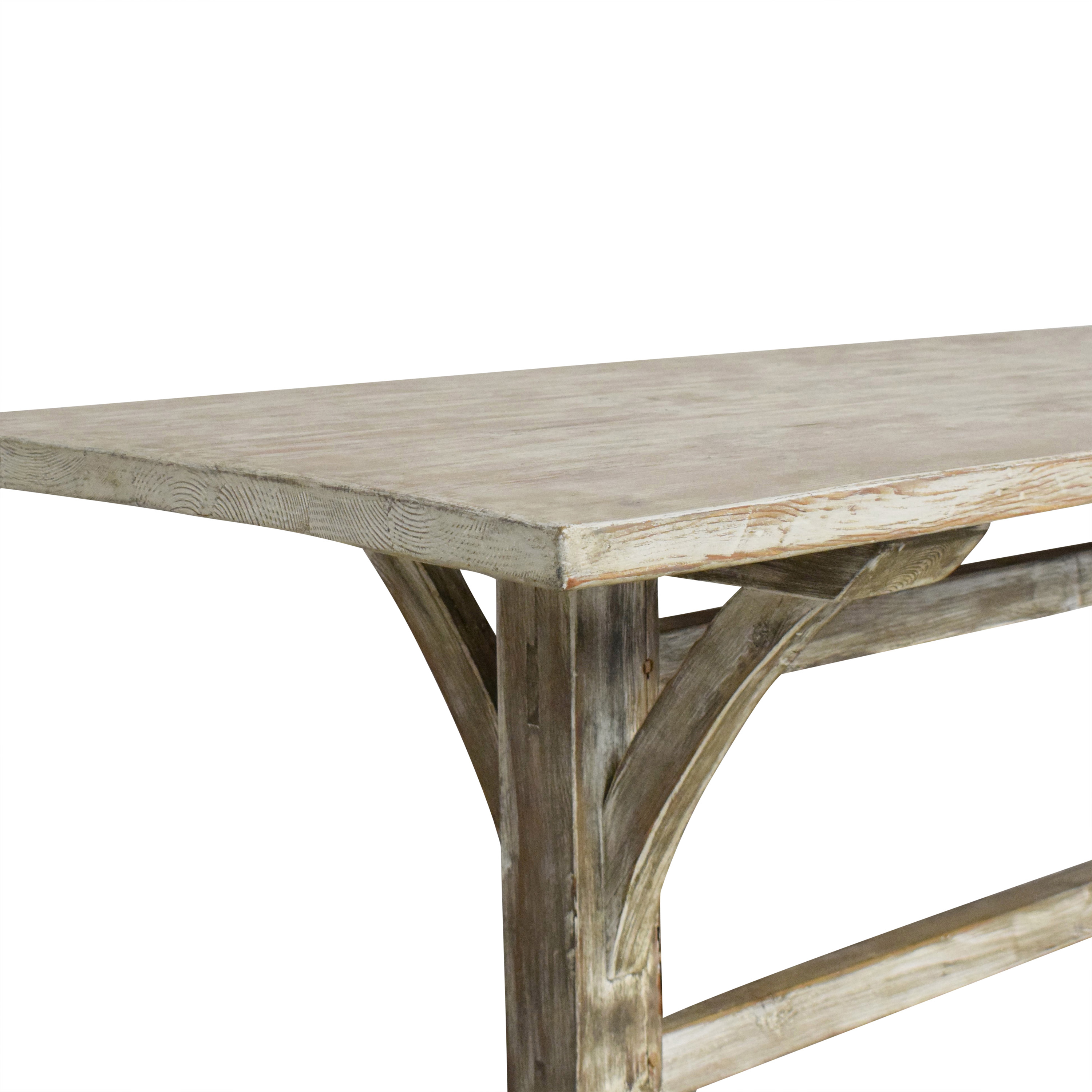 Rustic Trestle Dining Table used