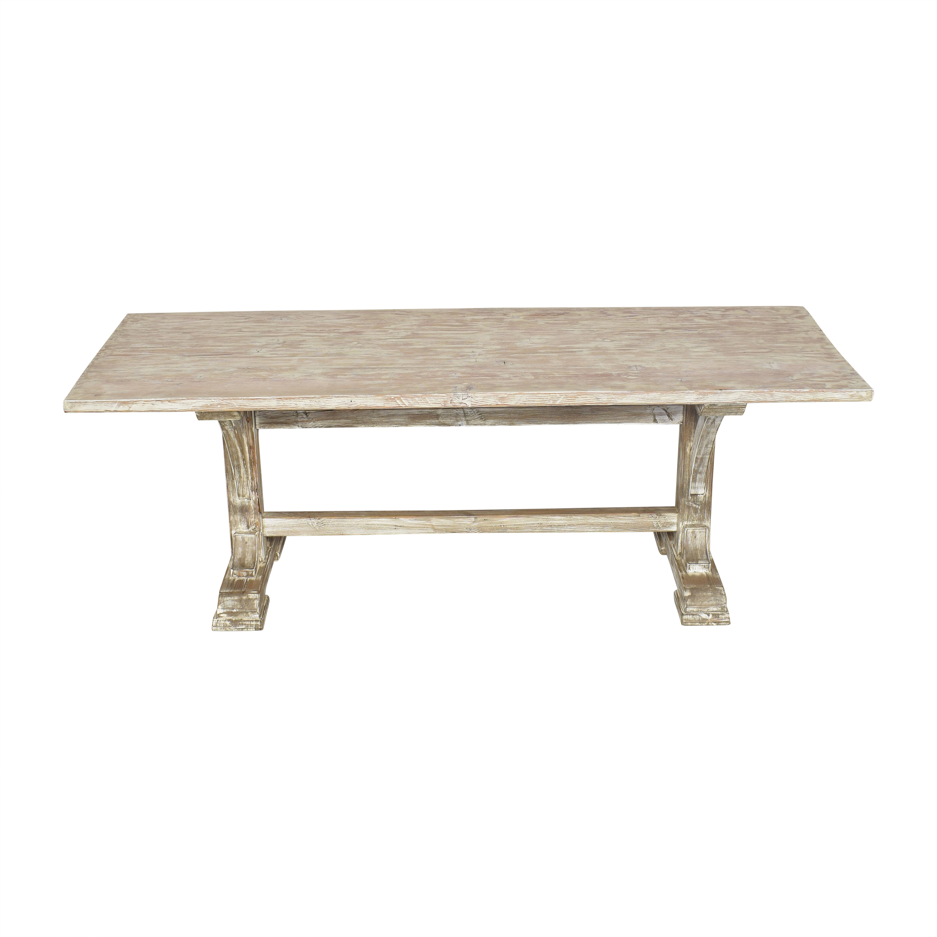Rustic Trestle Dining Table second hand