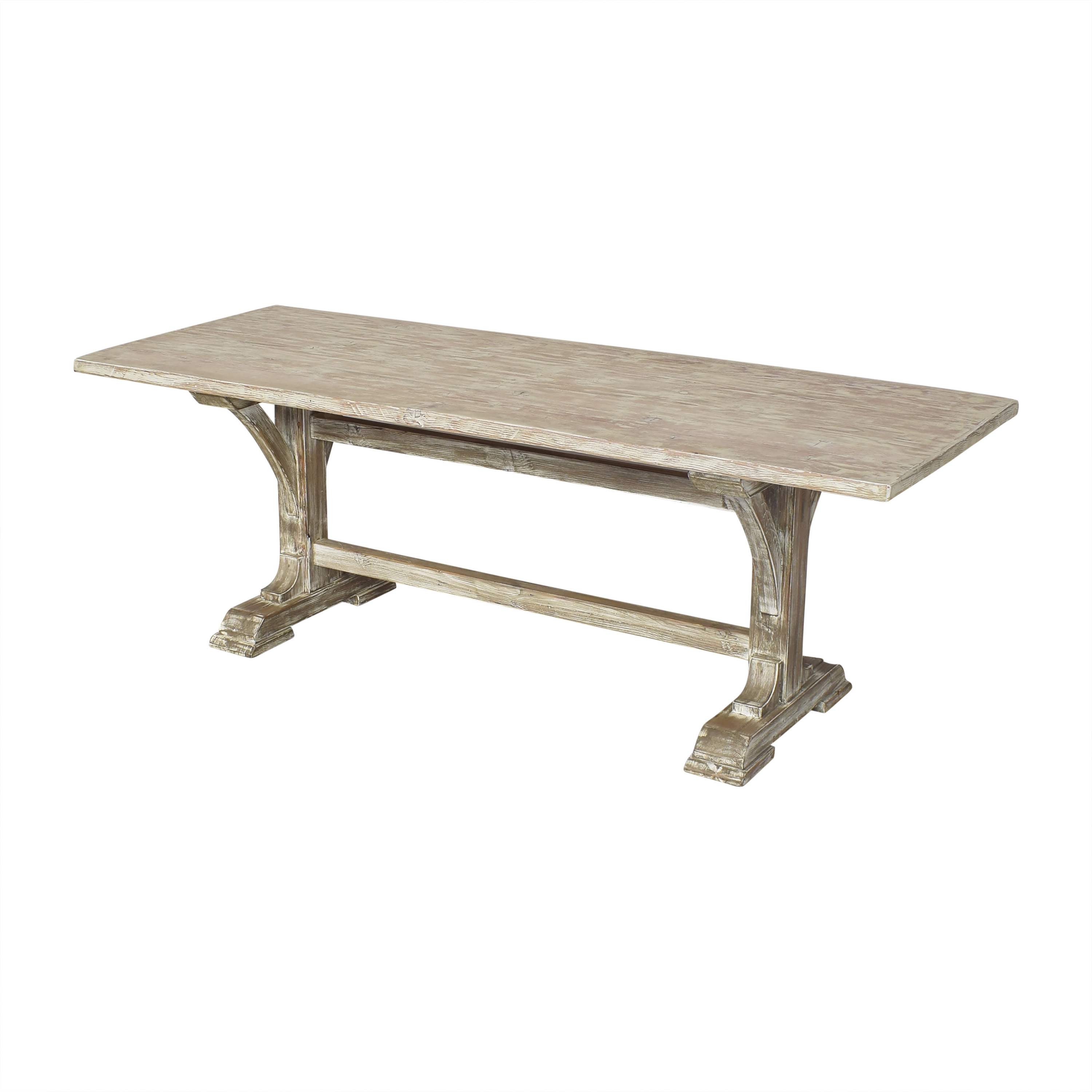 Rustic Trestle Dining Table ma