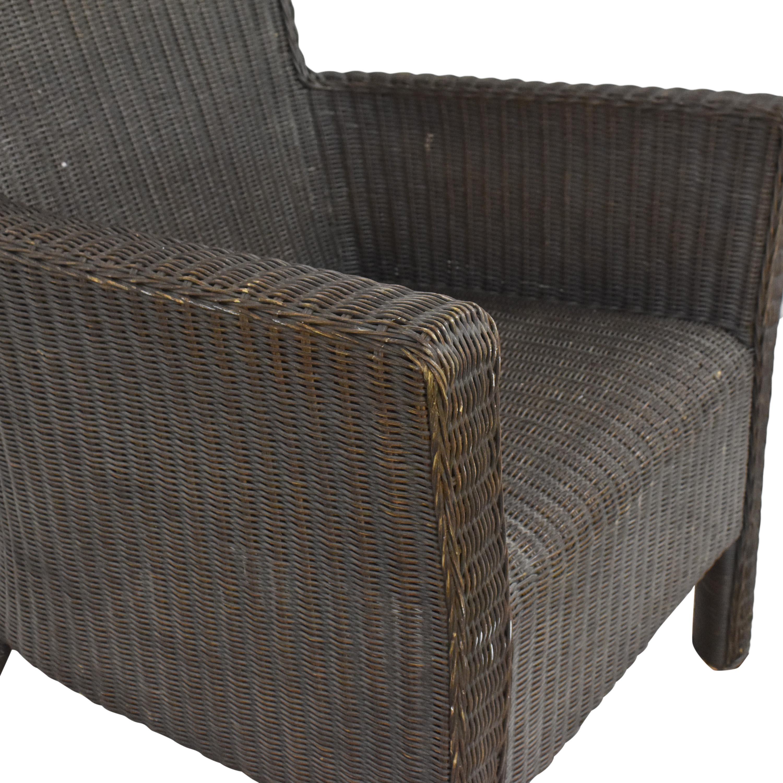 Crate & Barrel Crate & Barrel Wicker Arm Chair price