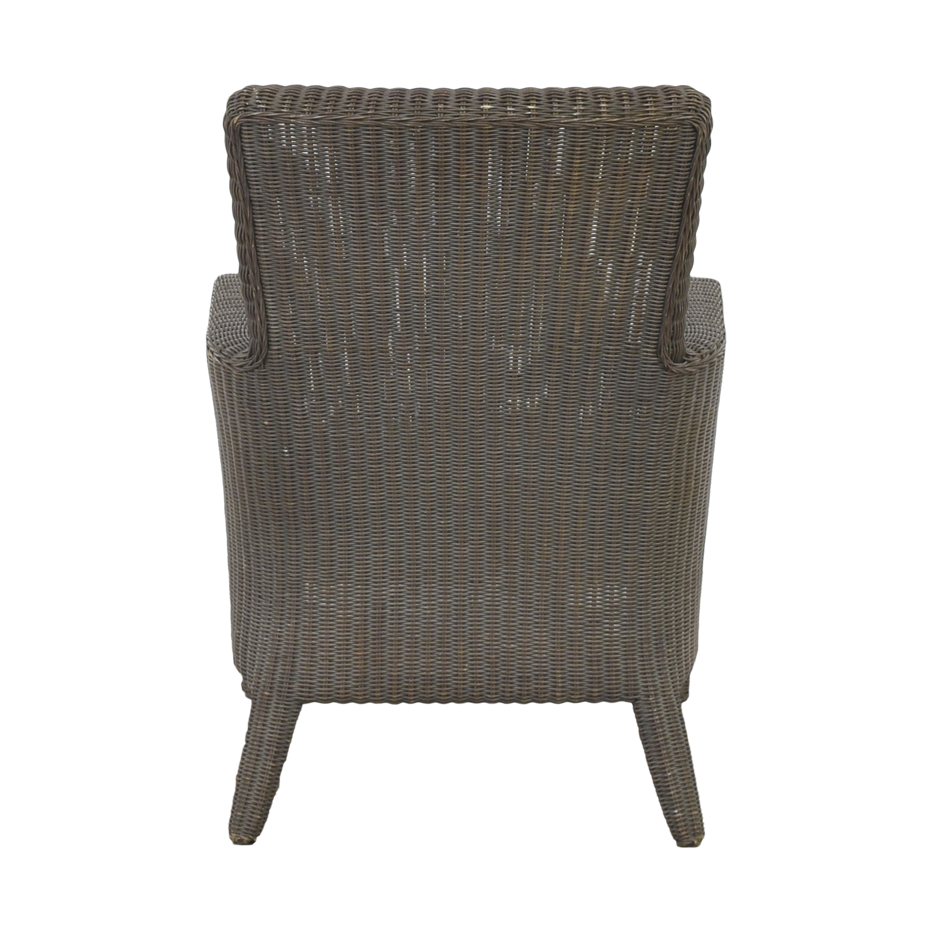 buy Crate & Barrel Wicker Arm Chair Crate & Barrel Accent Chairs