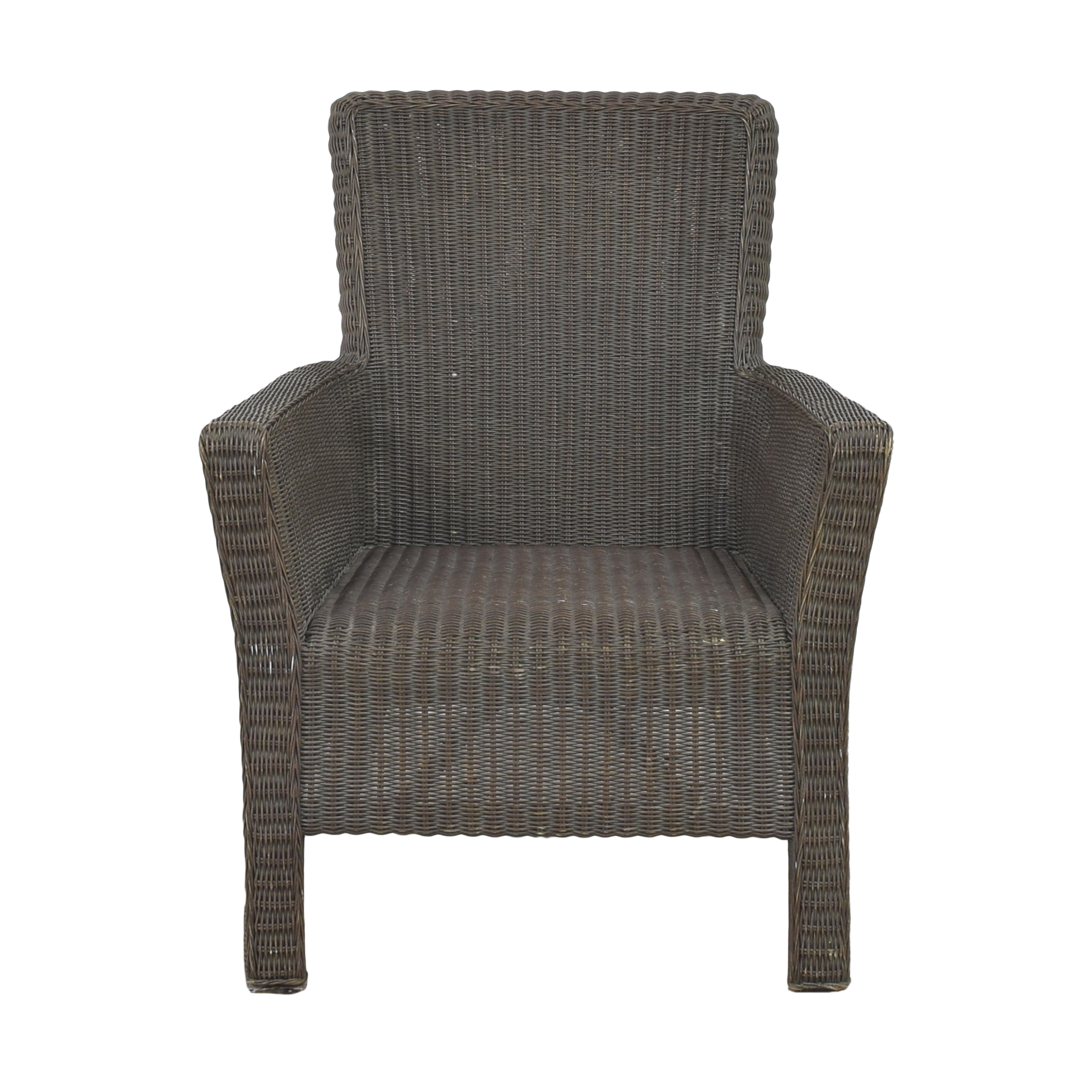 buy Crate & Barrel Wicker Arm Chair Crate & Barrel