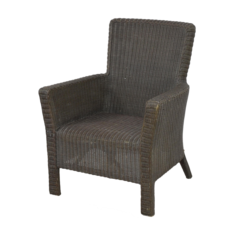 Crate & Barrel Crate & Barrel Wicker Arm Chair discount