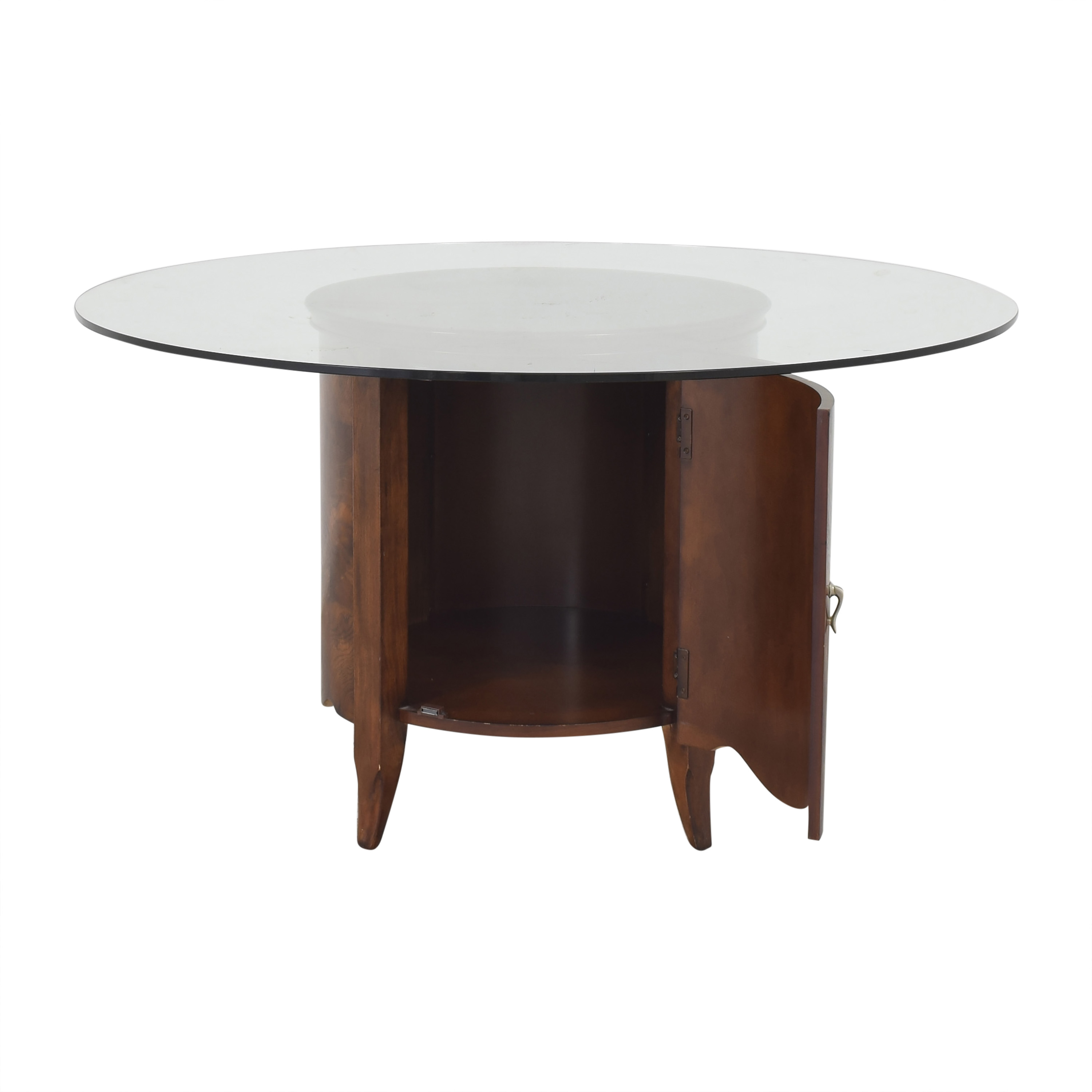 Raymour & Flanigan Raymour & Flanigan Round Dining Table pa