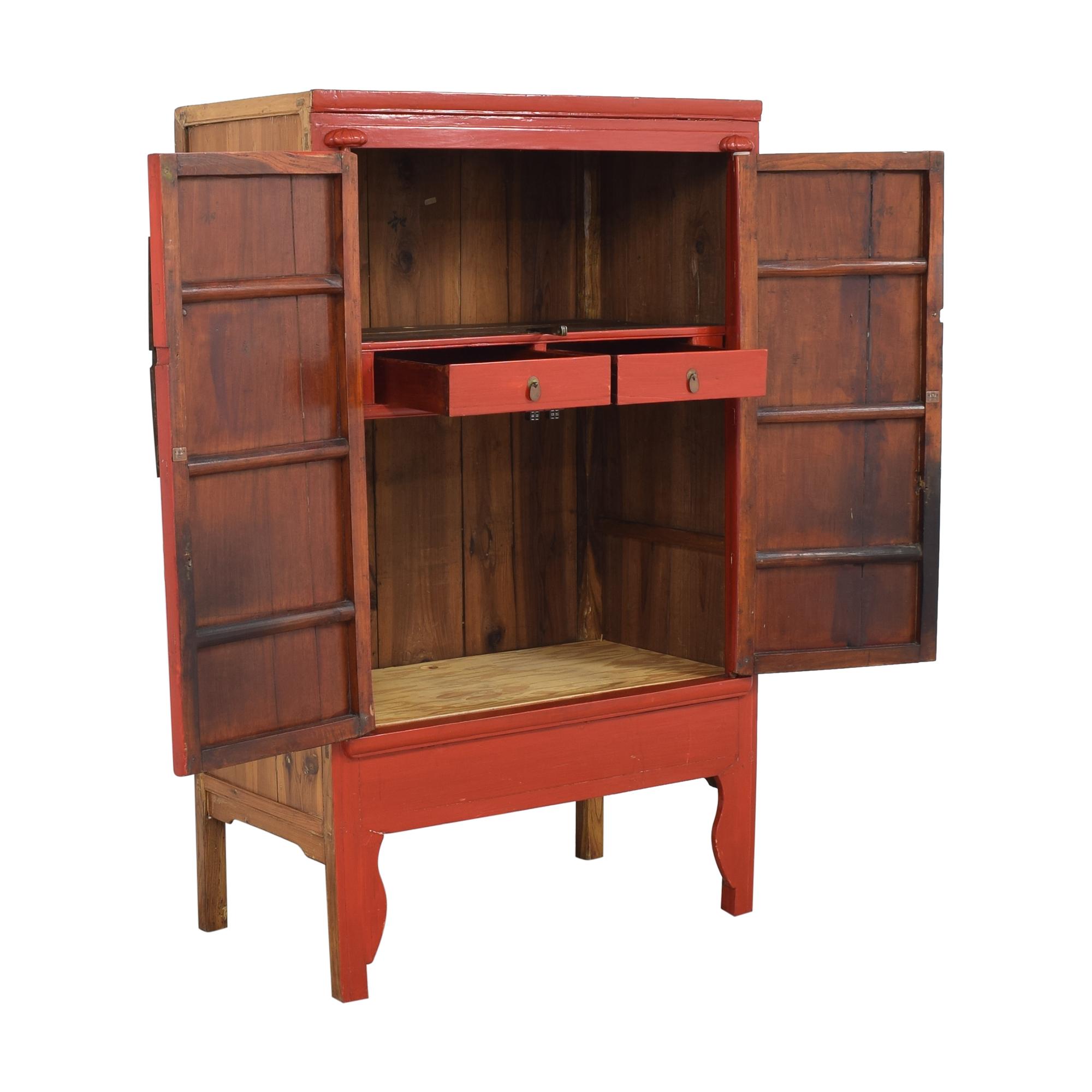 Vintage Style Chinese Wedding Cabinet used